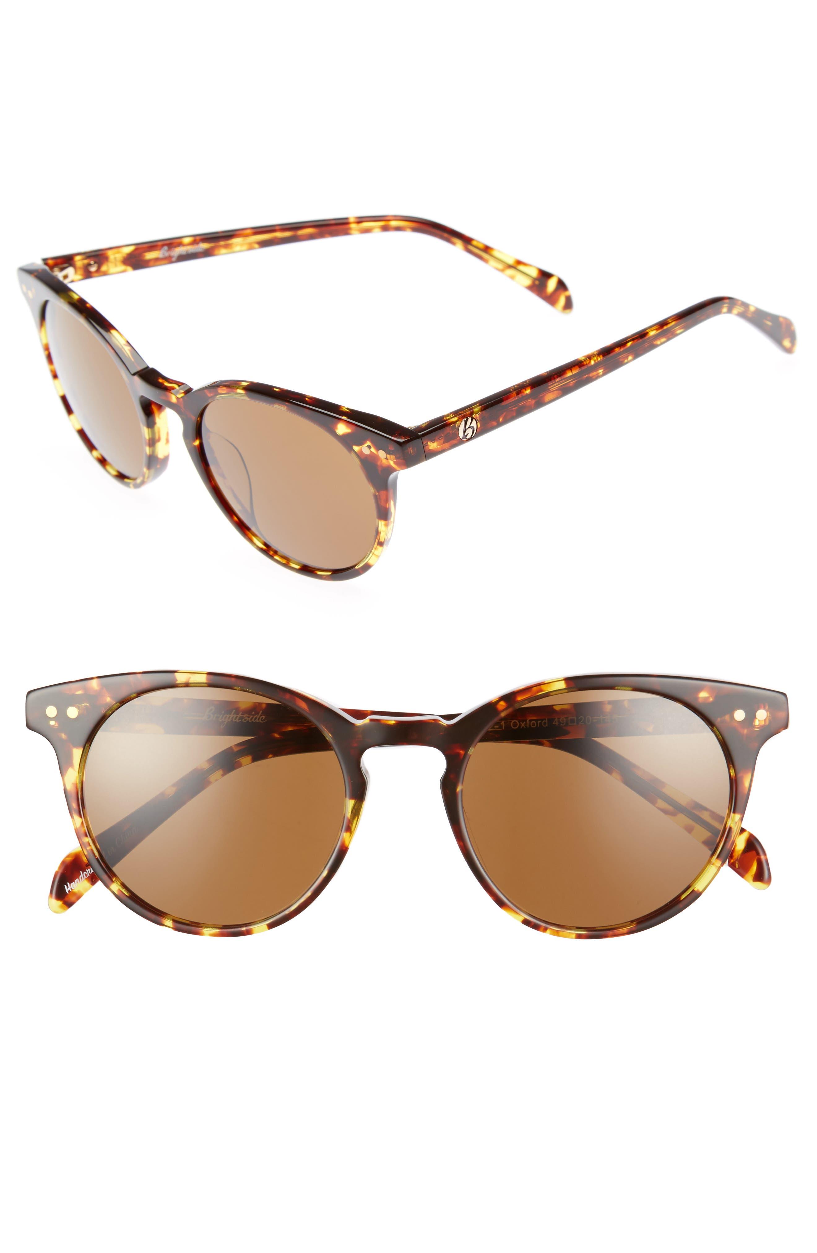 Oxford 49mm Sunglasses,                             Main thumbnail 1, color,                             Classic Tortoise/ Brown
