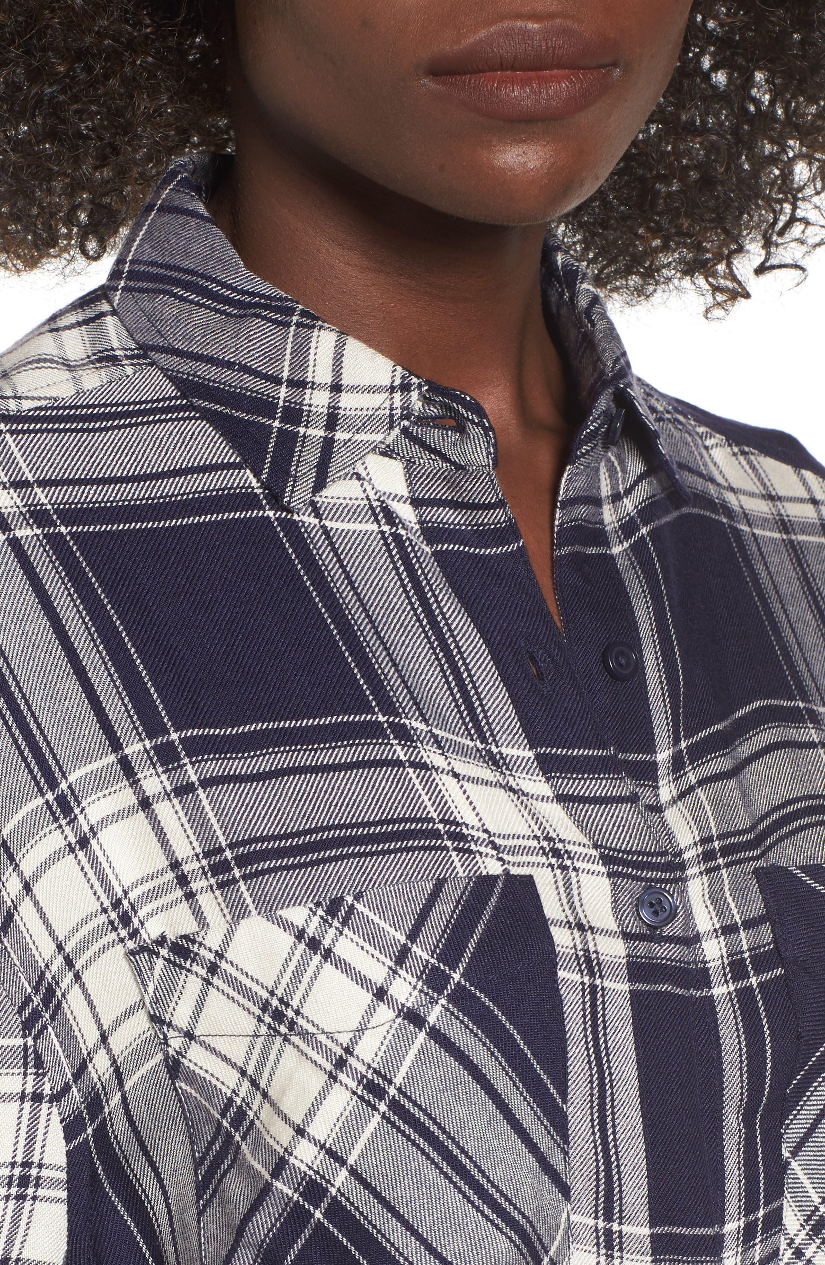 Alternate Image 4  - BP. Oversize Flannel Shirt