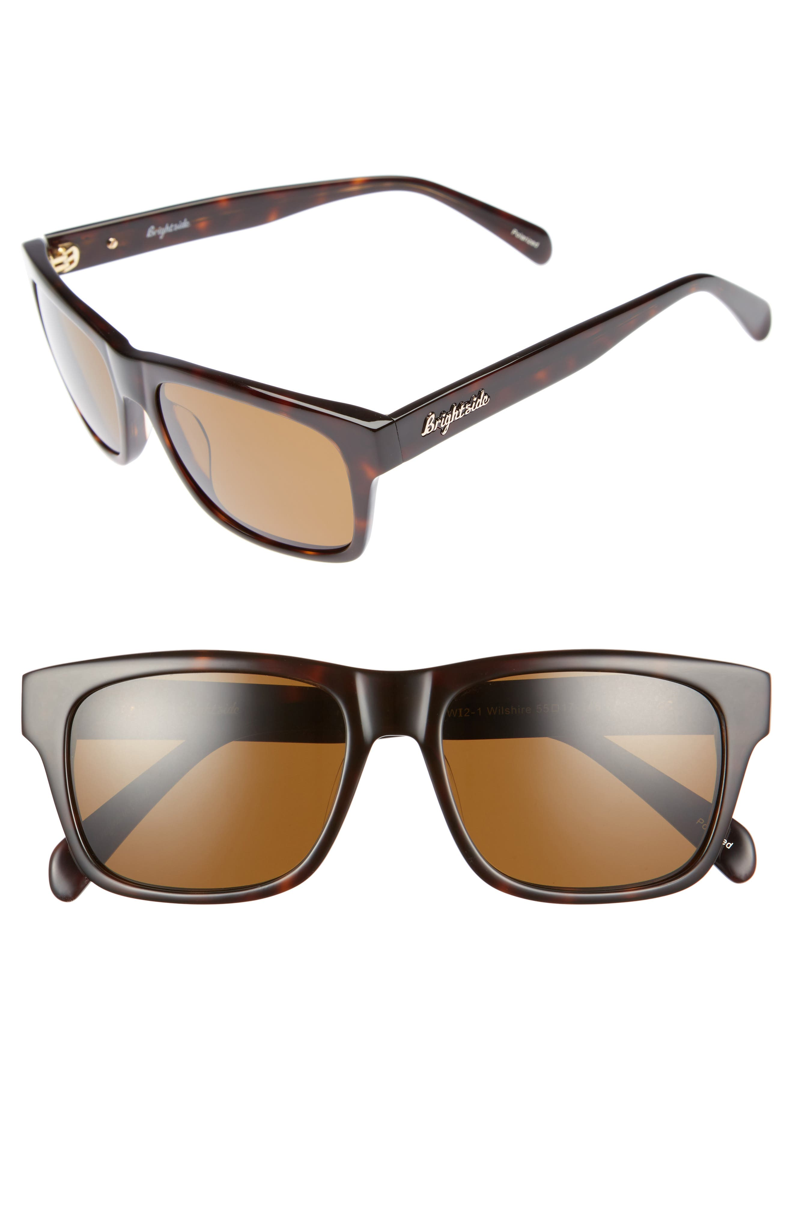 Brightside Wilshire 55mm Polarized Sunglasses