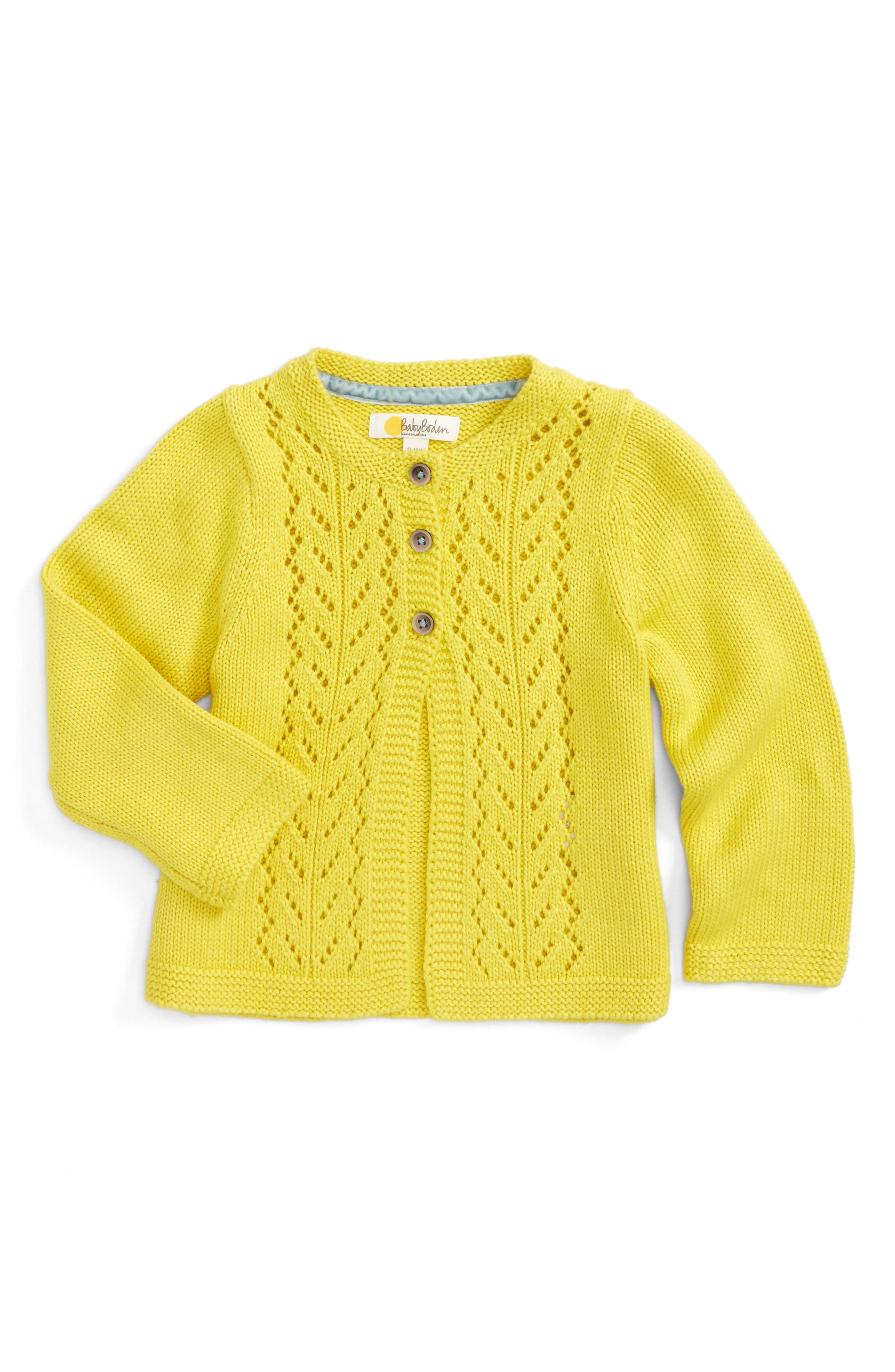 Mini Boden Pointelle Cardigan (Baby Girls & Toddler Girls)