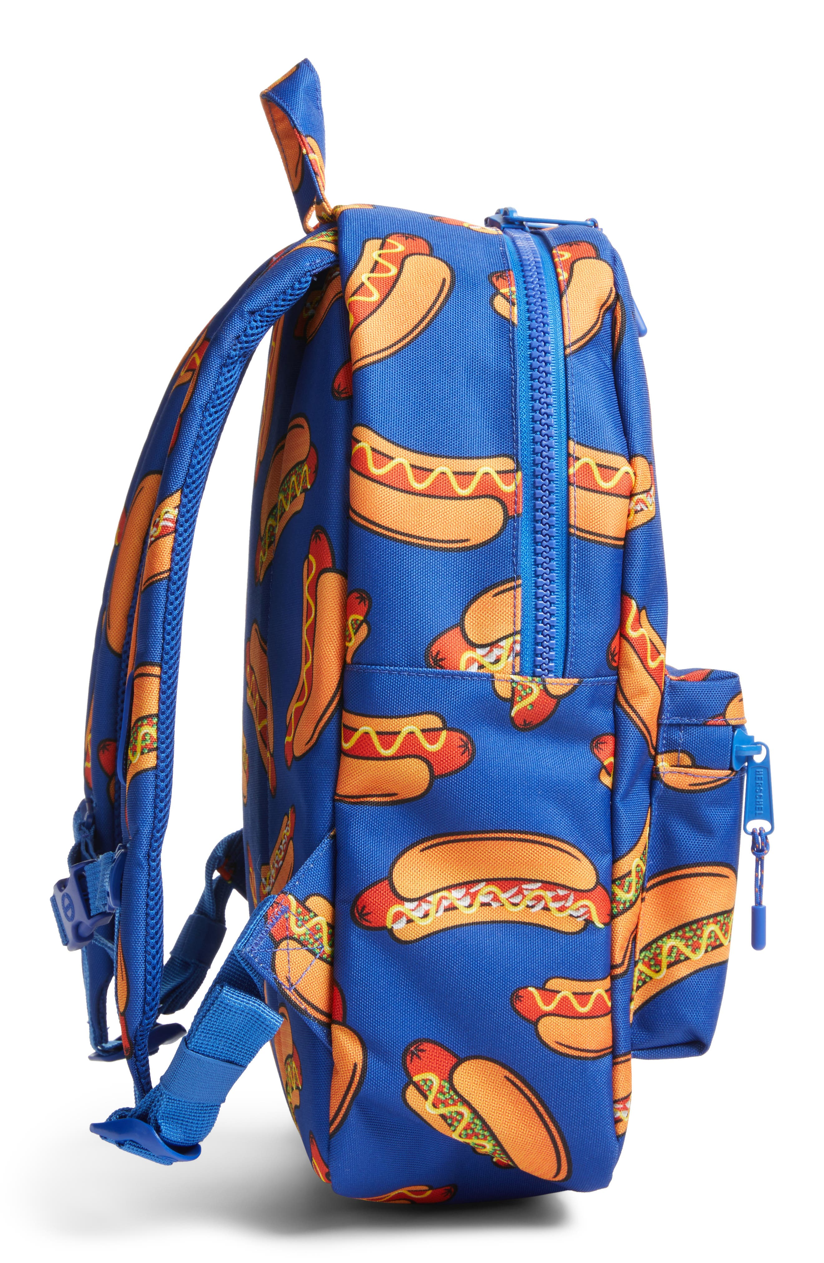 Herschell Supply Co. Heritage Hotdog Print Backpack,                             Alternate thumbnail 3, color,                             Surf The Web Hot Dogs/ Rubber
