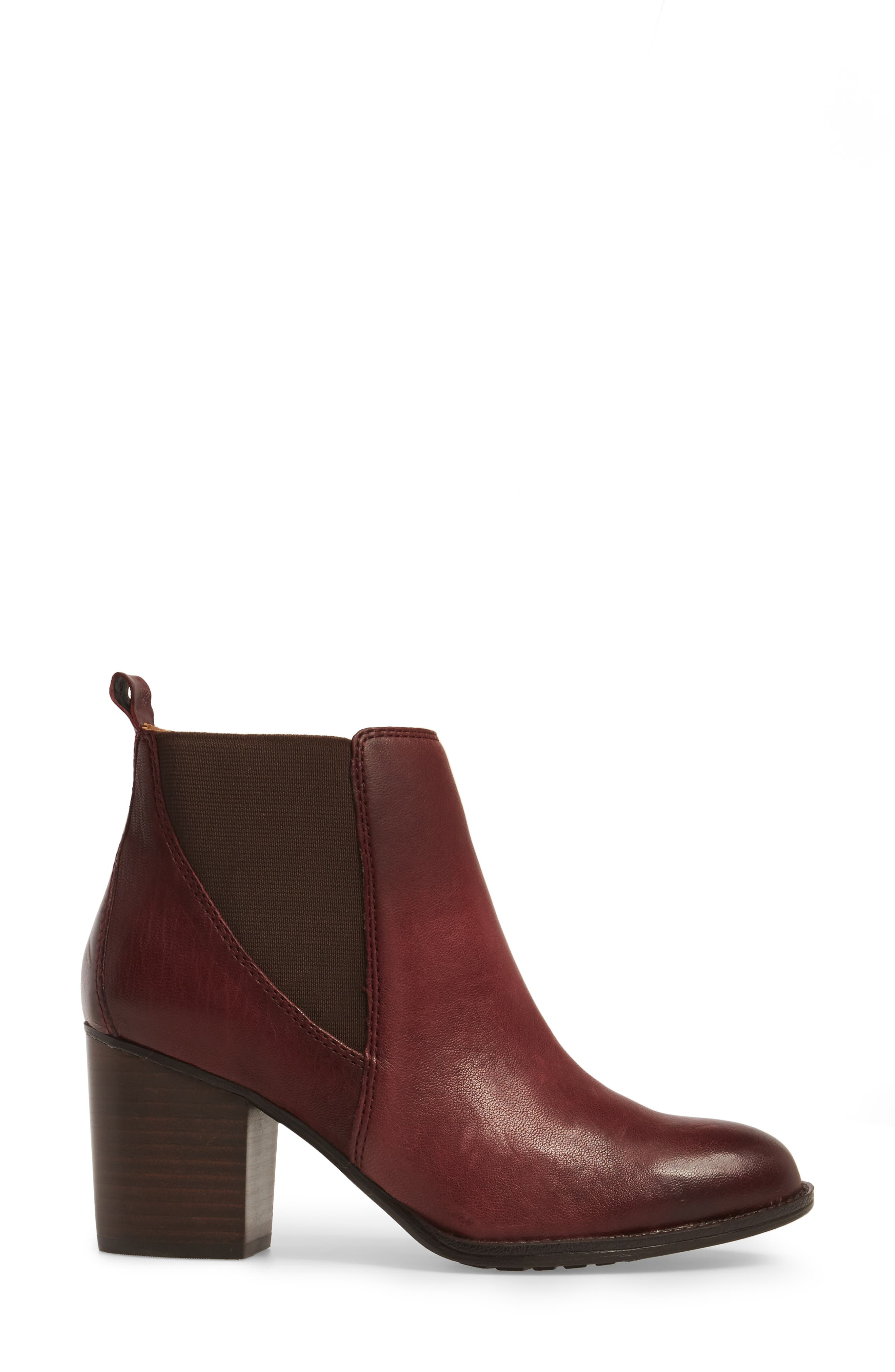 Welling Bootie,                             Alternate thumbnail 3, color,                             Wine Red Leather