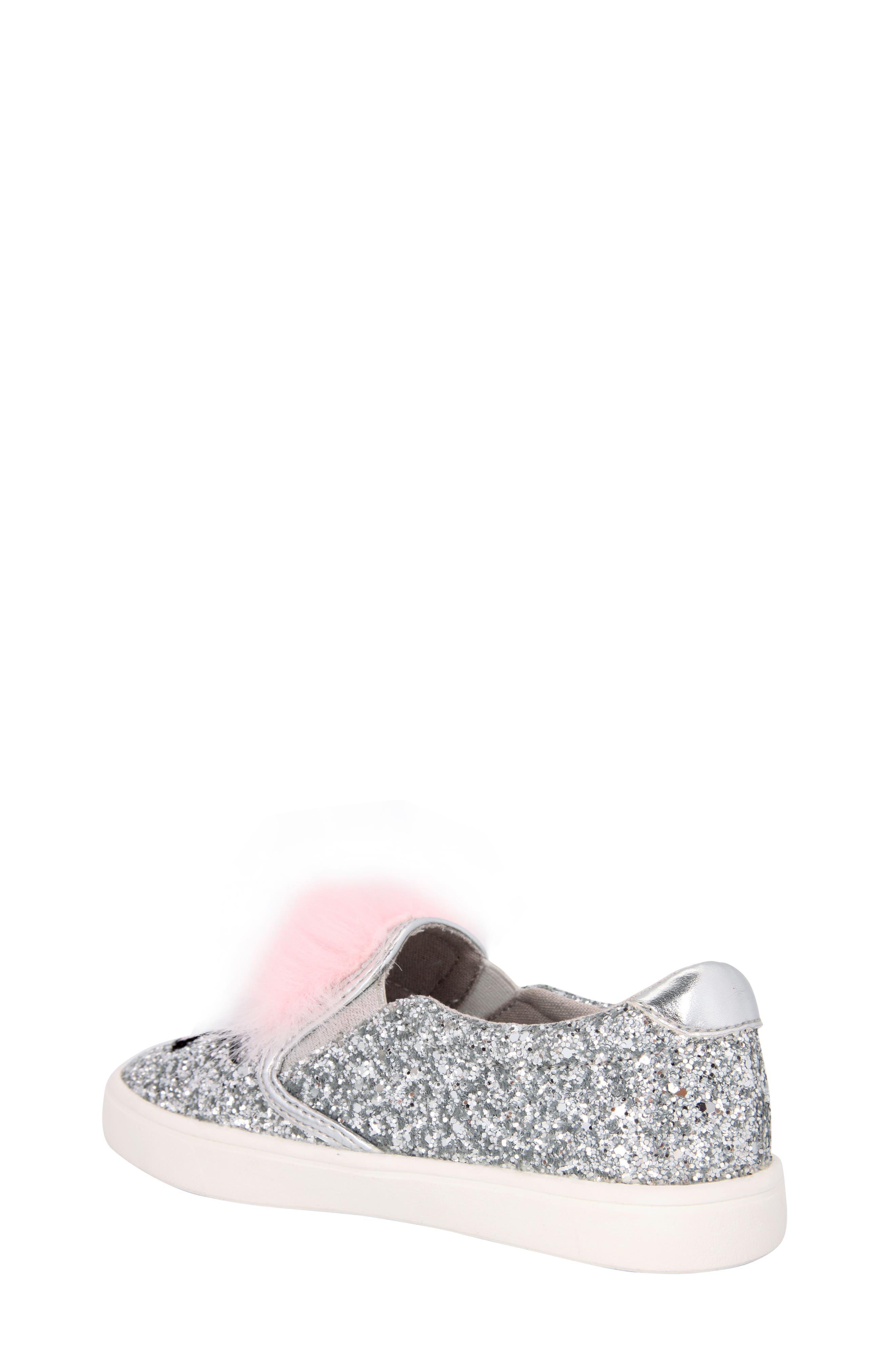 Alternate Image 2  - Nina Ragina Faux Fur Slip-On Sneaker (Little Kid & Big Kid)