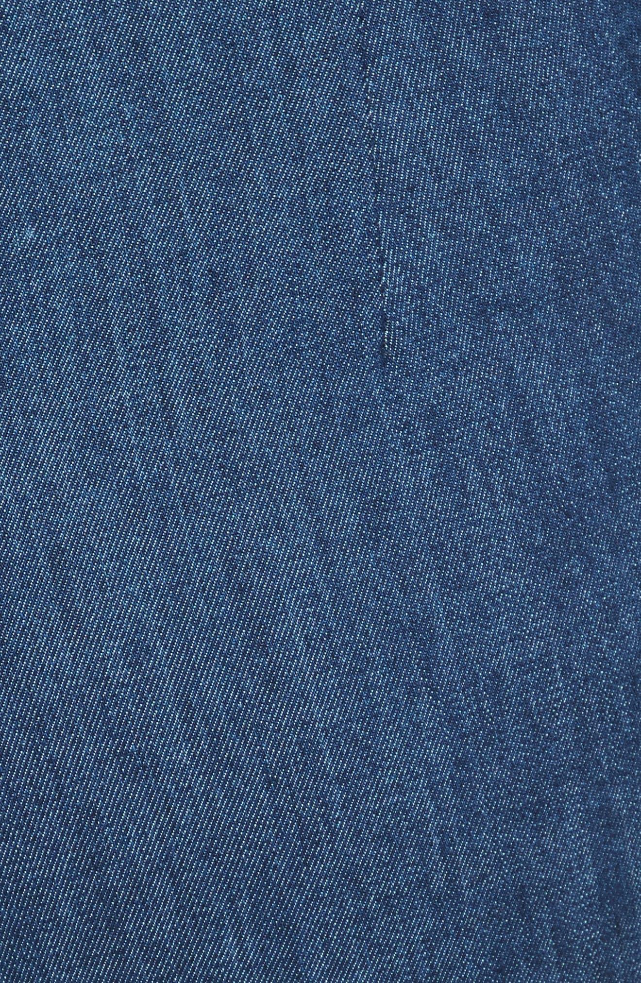 Simone Slim Ankle Pants,                             Alternate thumbnail 5, color,                             Mid Blue