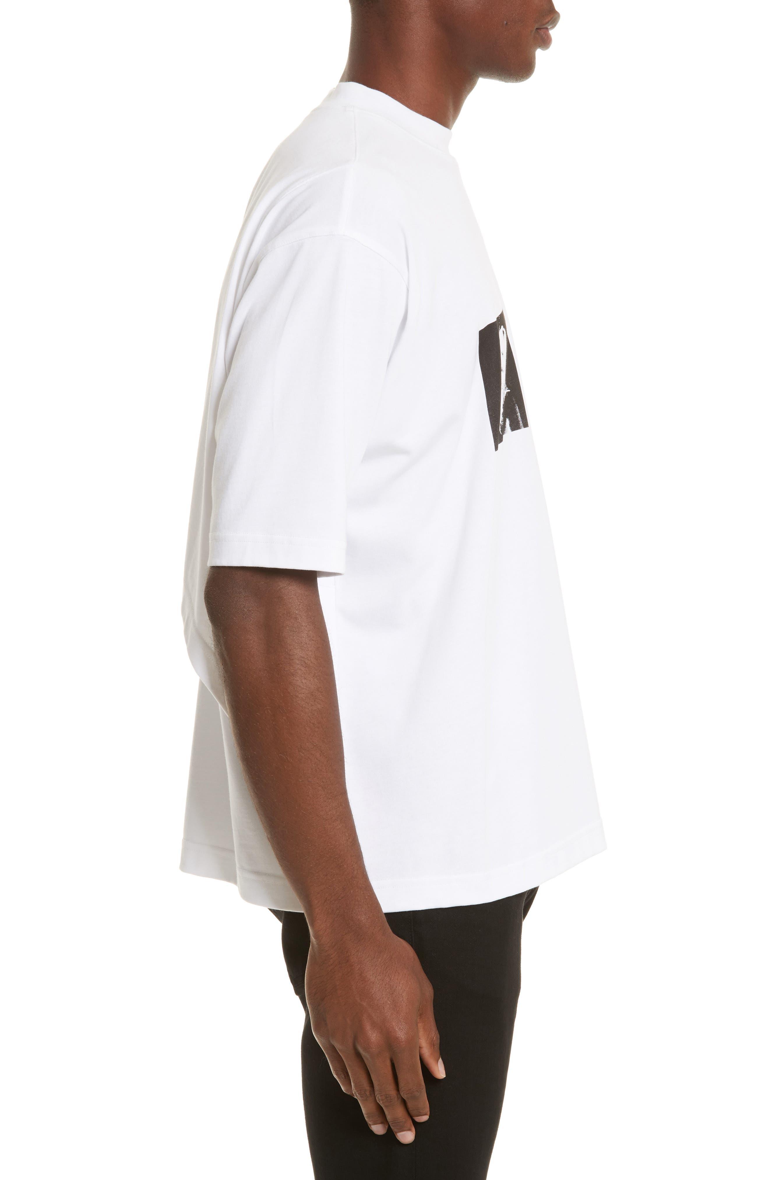 Techno Jungle Graphic T-Shirt,                             Alternate thumbnail 3, color,                             White