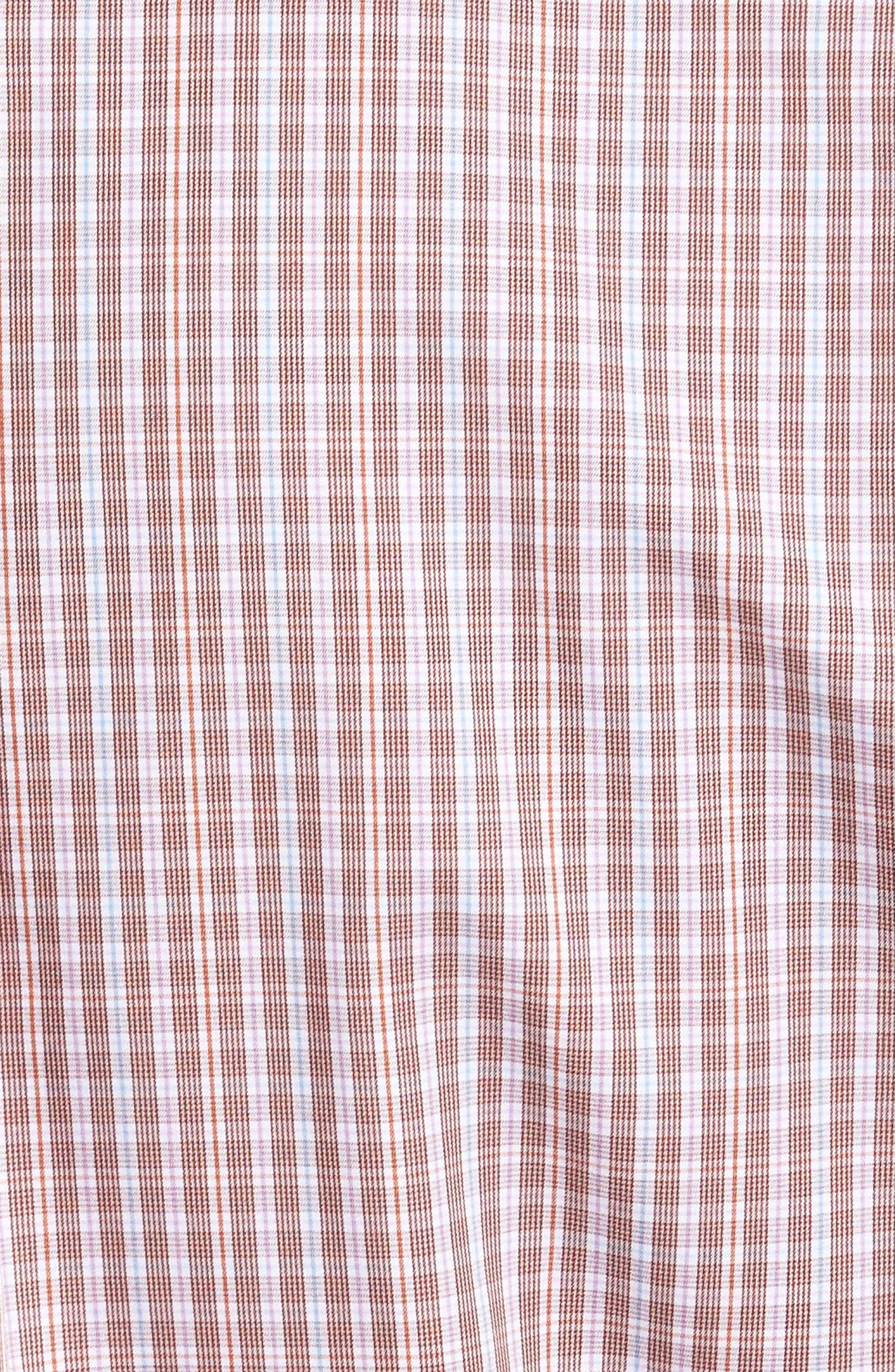 Crown Finish Yosemite Regular Fit Check Sport Shirt,                             Alternate thumbnail 5, color,                             Sierra Red