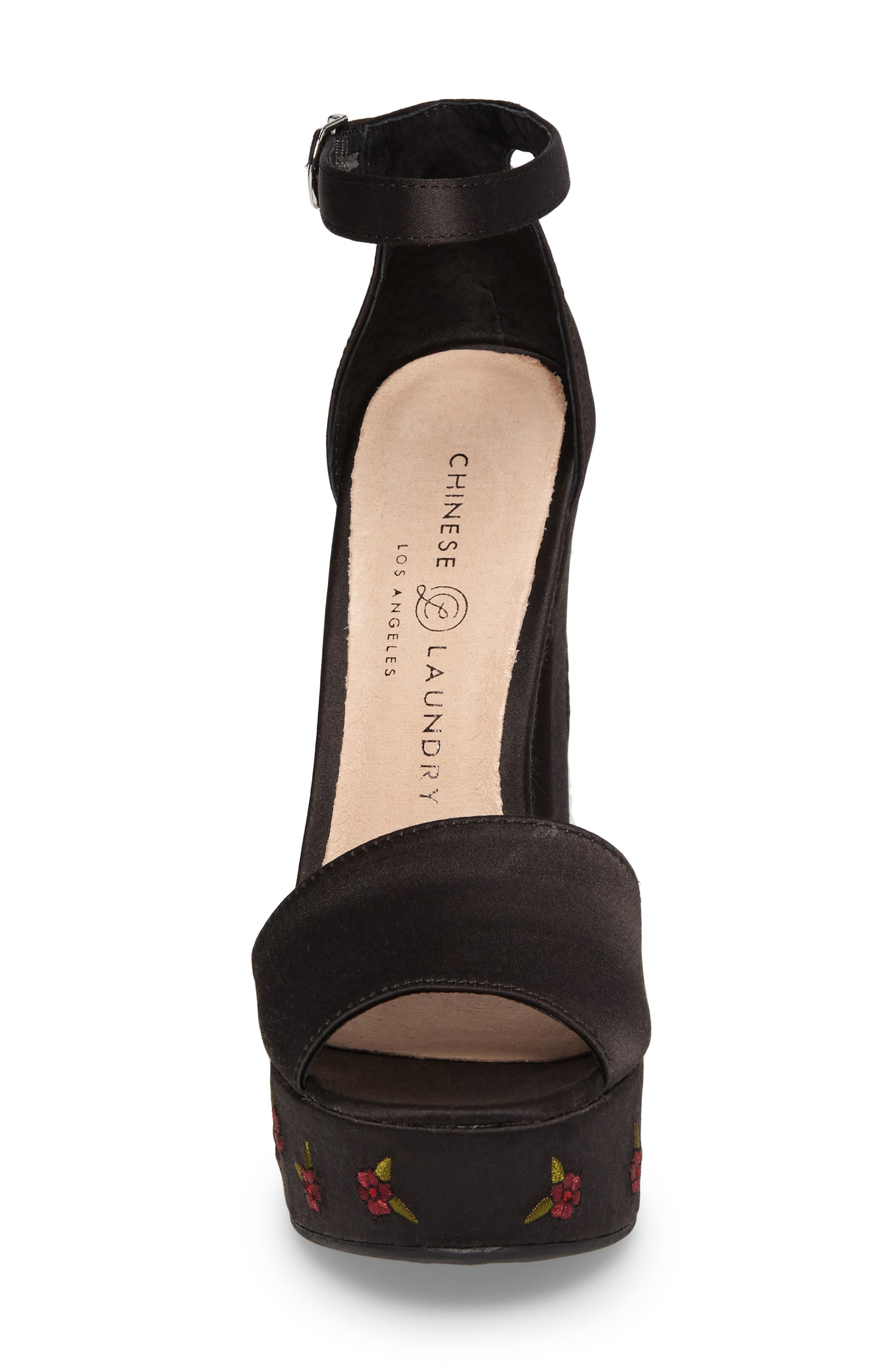 Alternate Image 4  - Chinese Laundry Amy Flower Embroidered Platform Pump (Women)