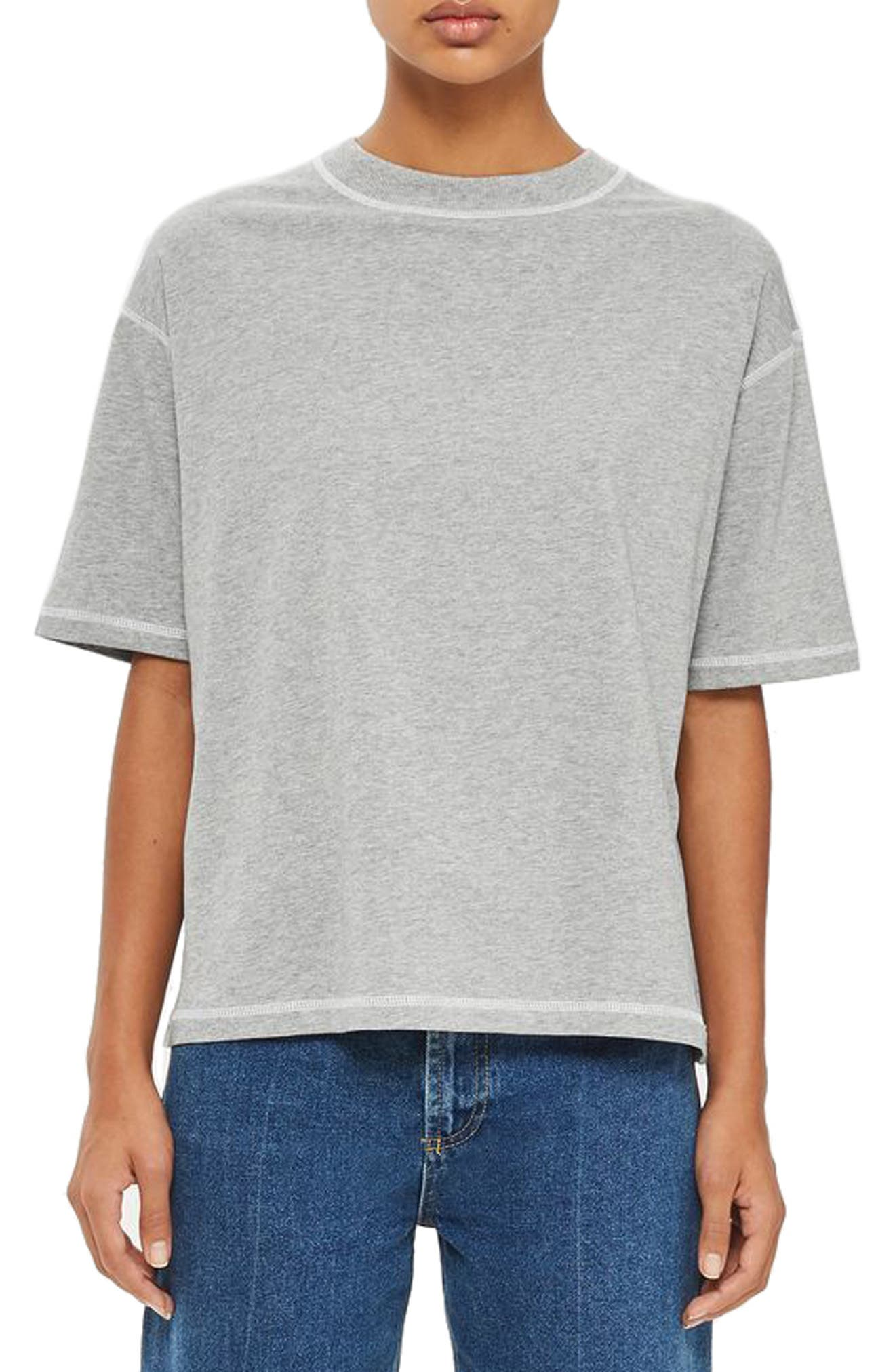 Topshop Boutique Contrast Stitch Boy Tee