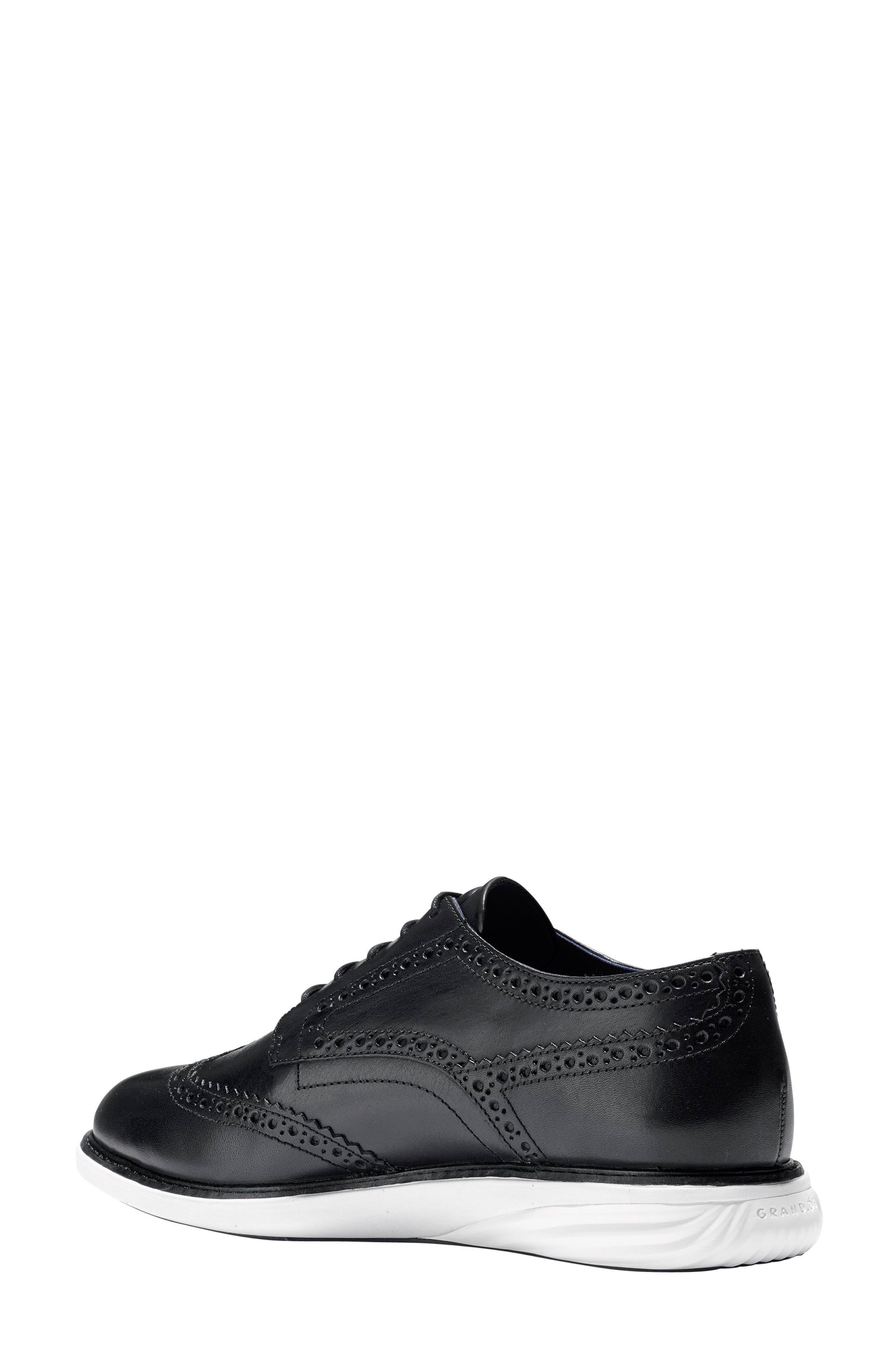 Gradevolution Oxford Sneaker,                             Alternate thumbnail 2, color,                             Black/ Optic White Leather
