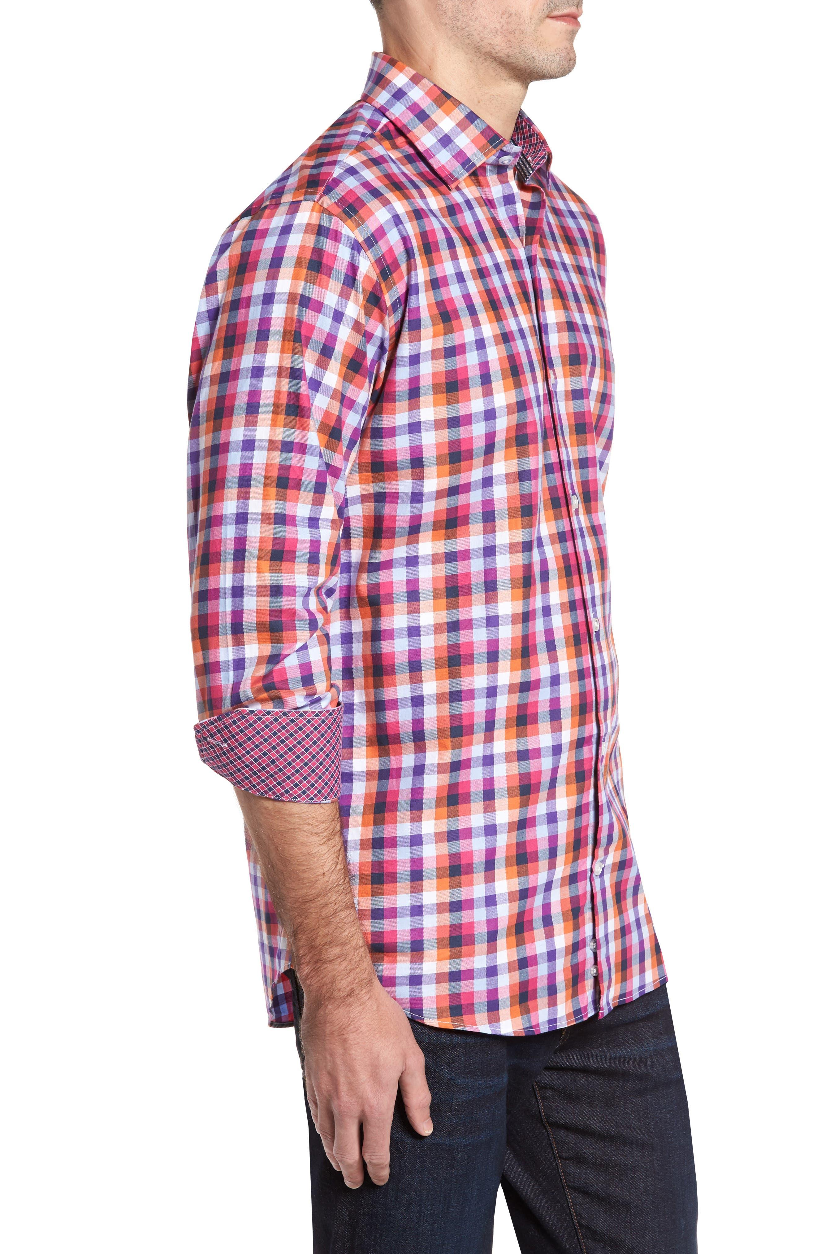 Alternate Image 3  - TailorByrd Baker Check Sport Shirt