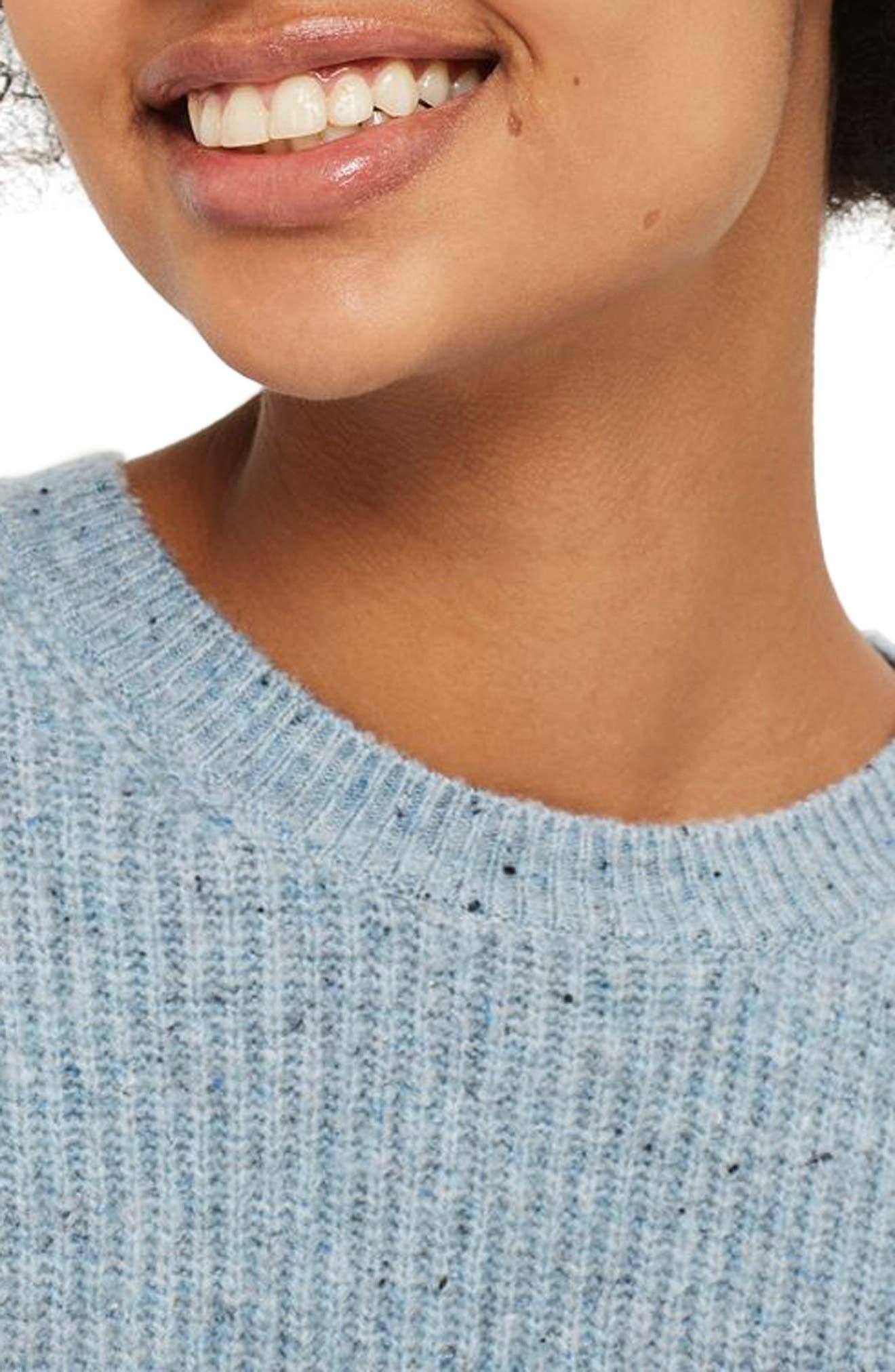 Alternate Image 4  - Topshop Ribbed Crewneck Sweater