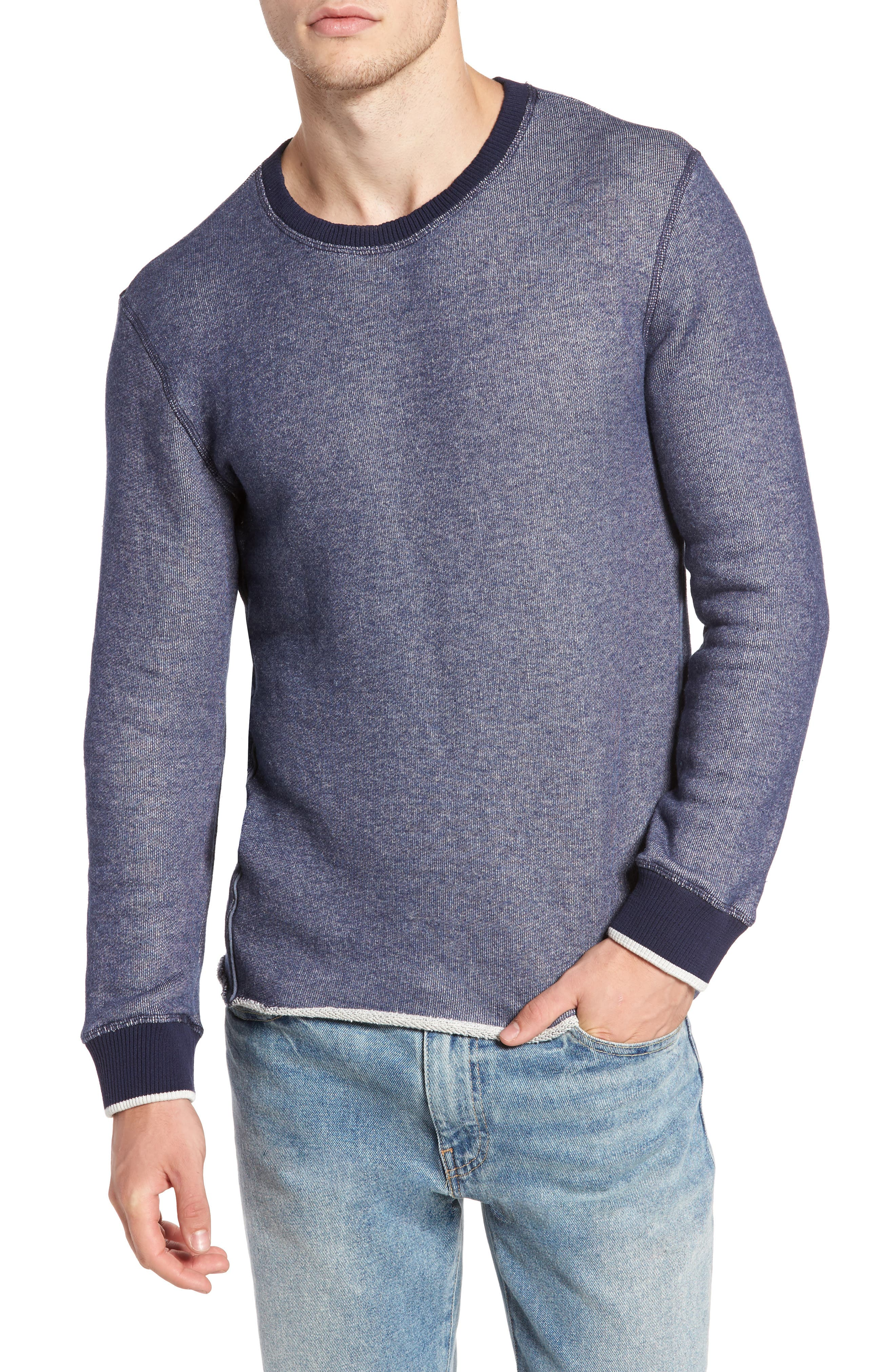 Twisted Pullover,                         Main,                         color, Blue