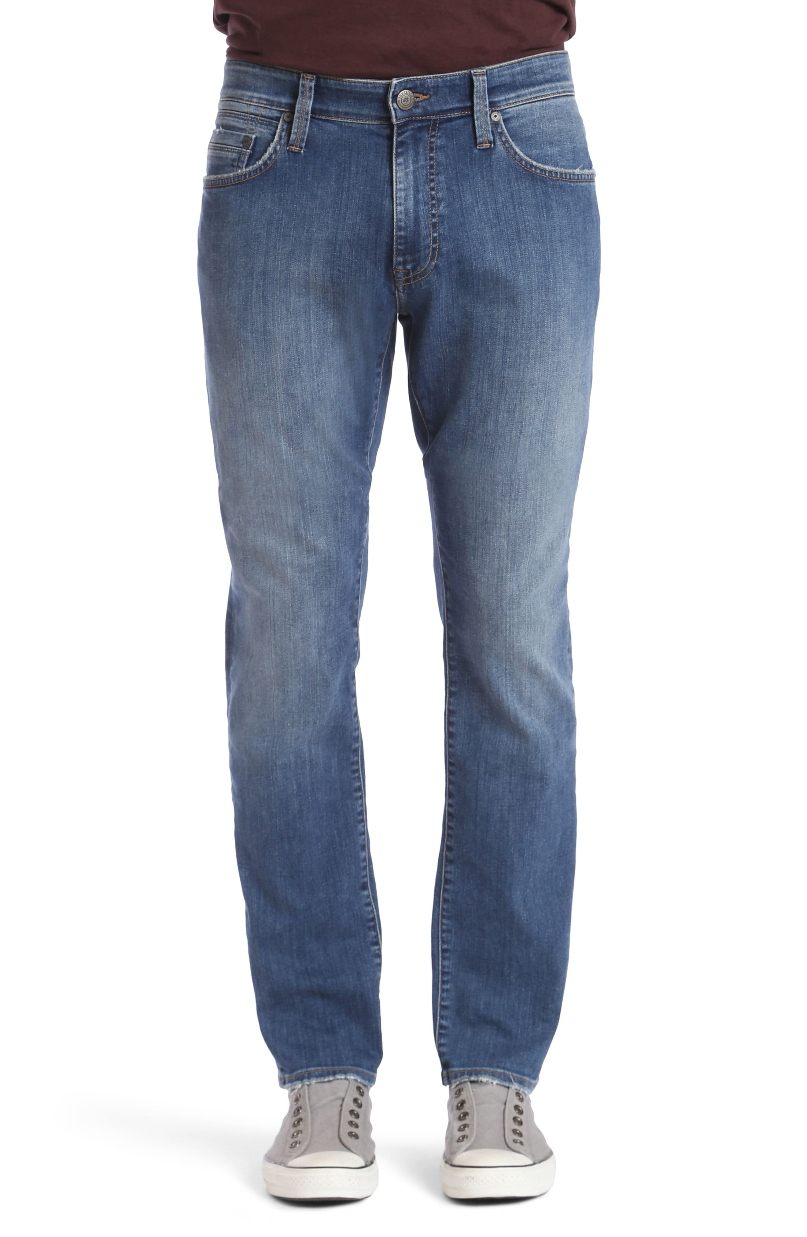 Matt Relaxed Fit Jeans,                         Main,                         color, Mid Clean Comfort