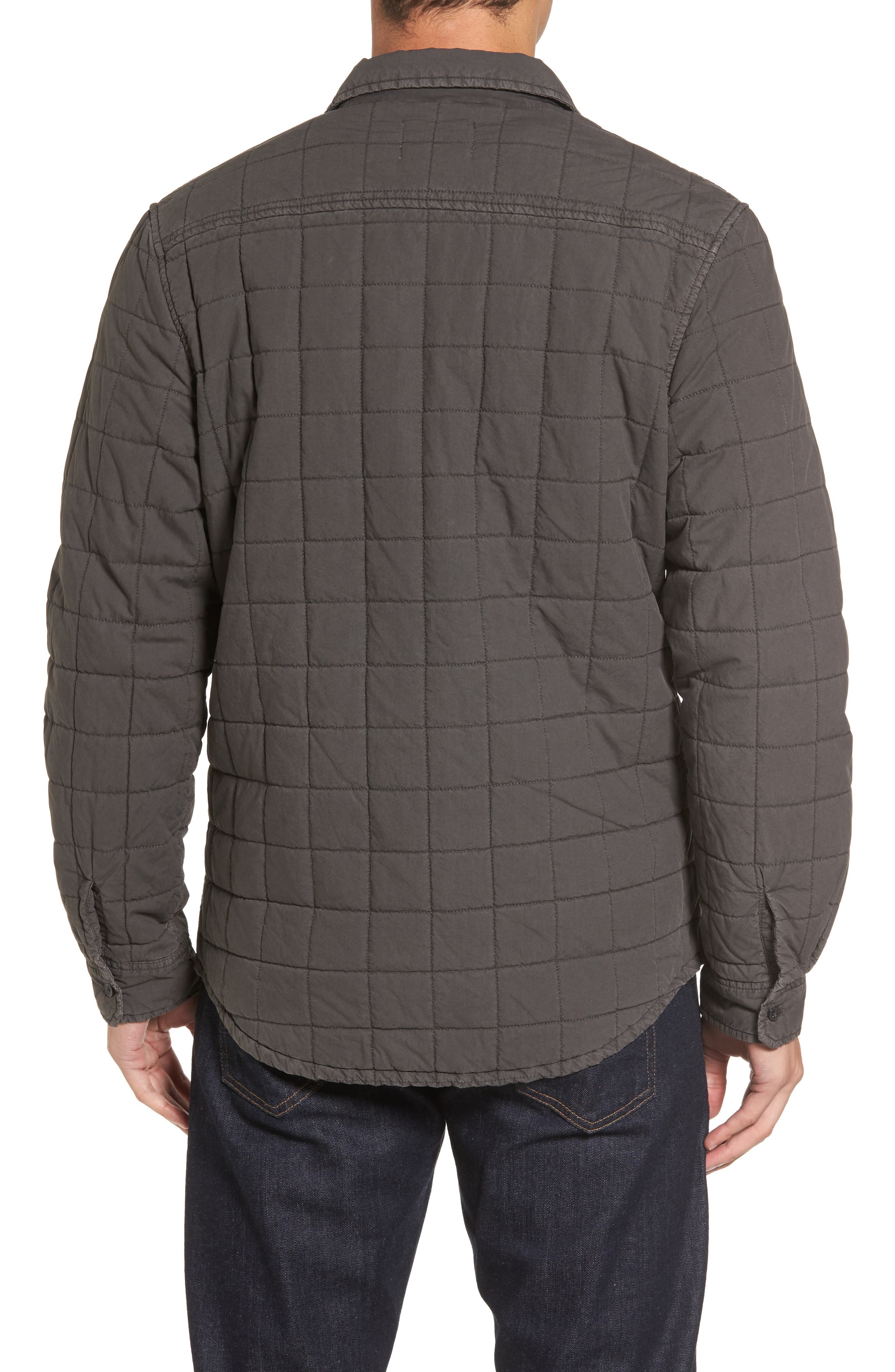 Quilted Shirt Jacket,                             Alternate thumbnail 2, color,                             Off Black
