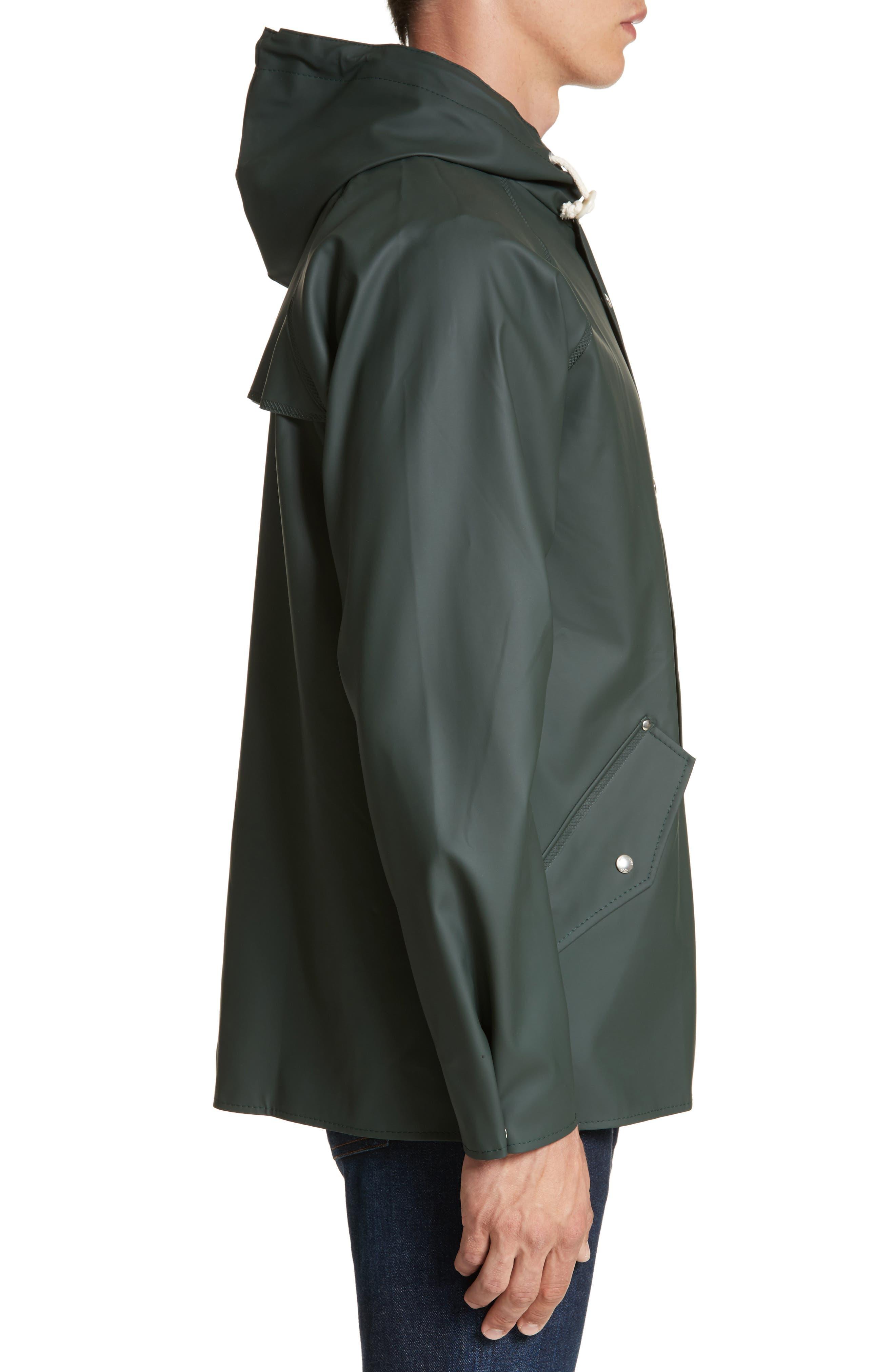Waterproof Rain Jacket,                             Alternate thumbnail 3, color,                             Moss