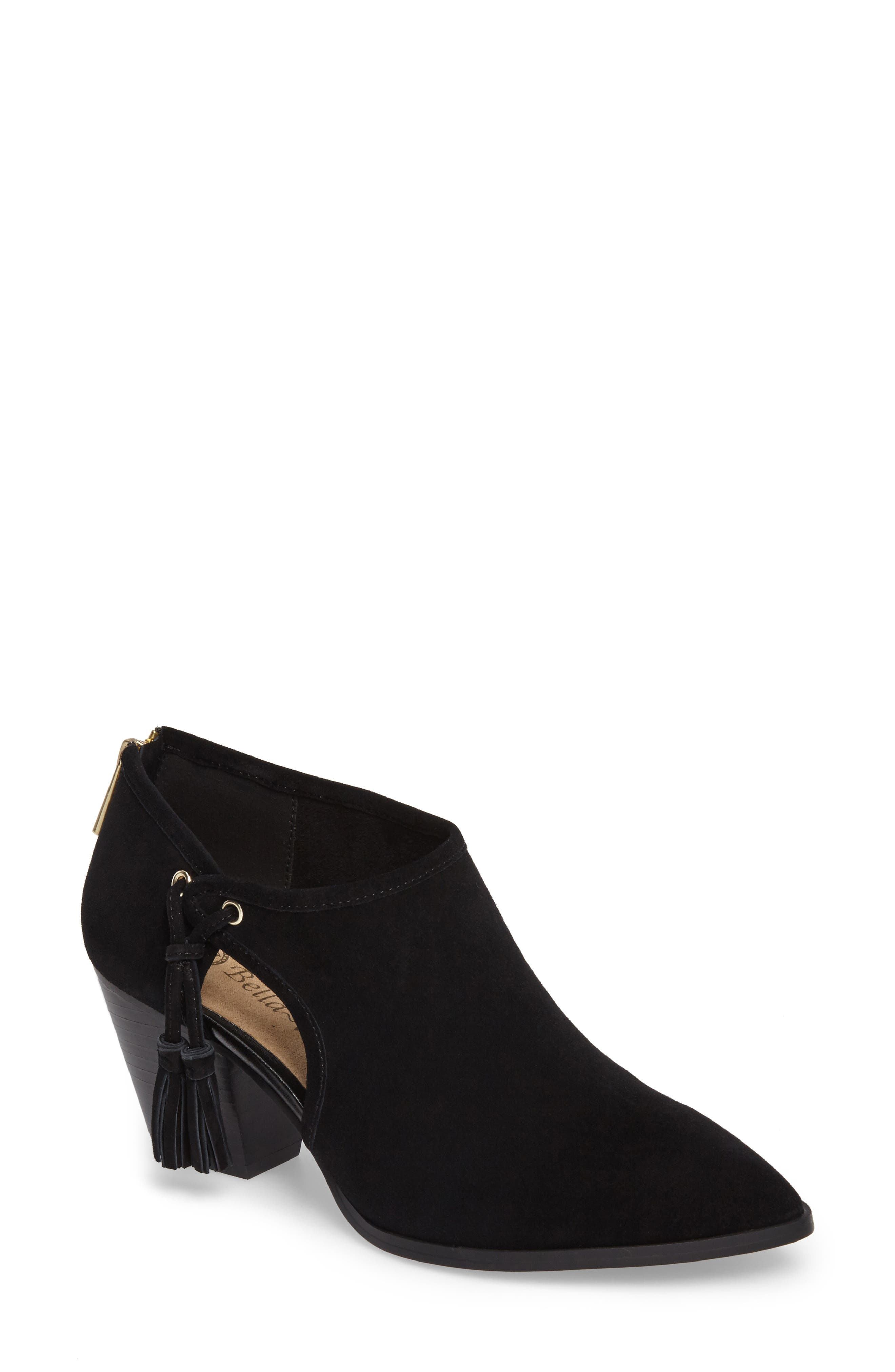 Eli Cutout Bootie,                         Main,                         color, Black Suede