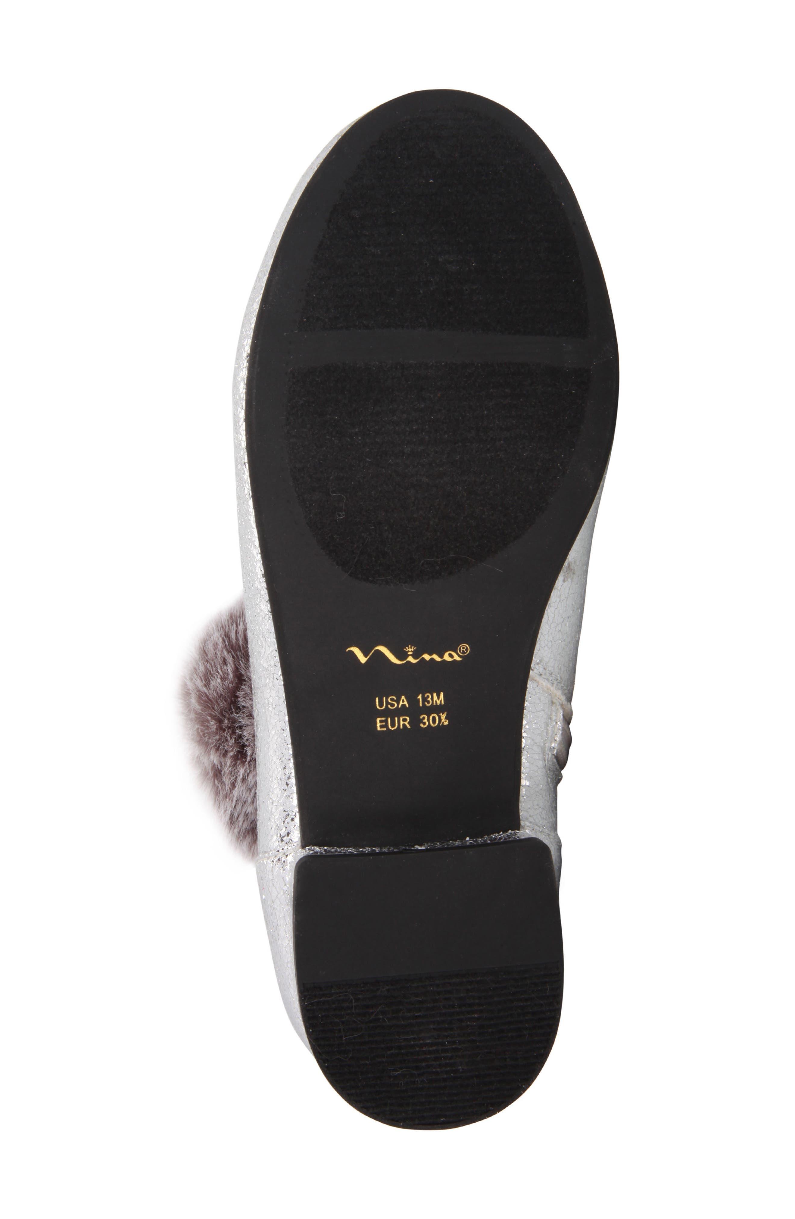 Alternate Image 6  - Nina Anita Faux Fur Embellished Bootie (Little Kid & Big Kid)