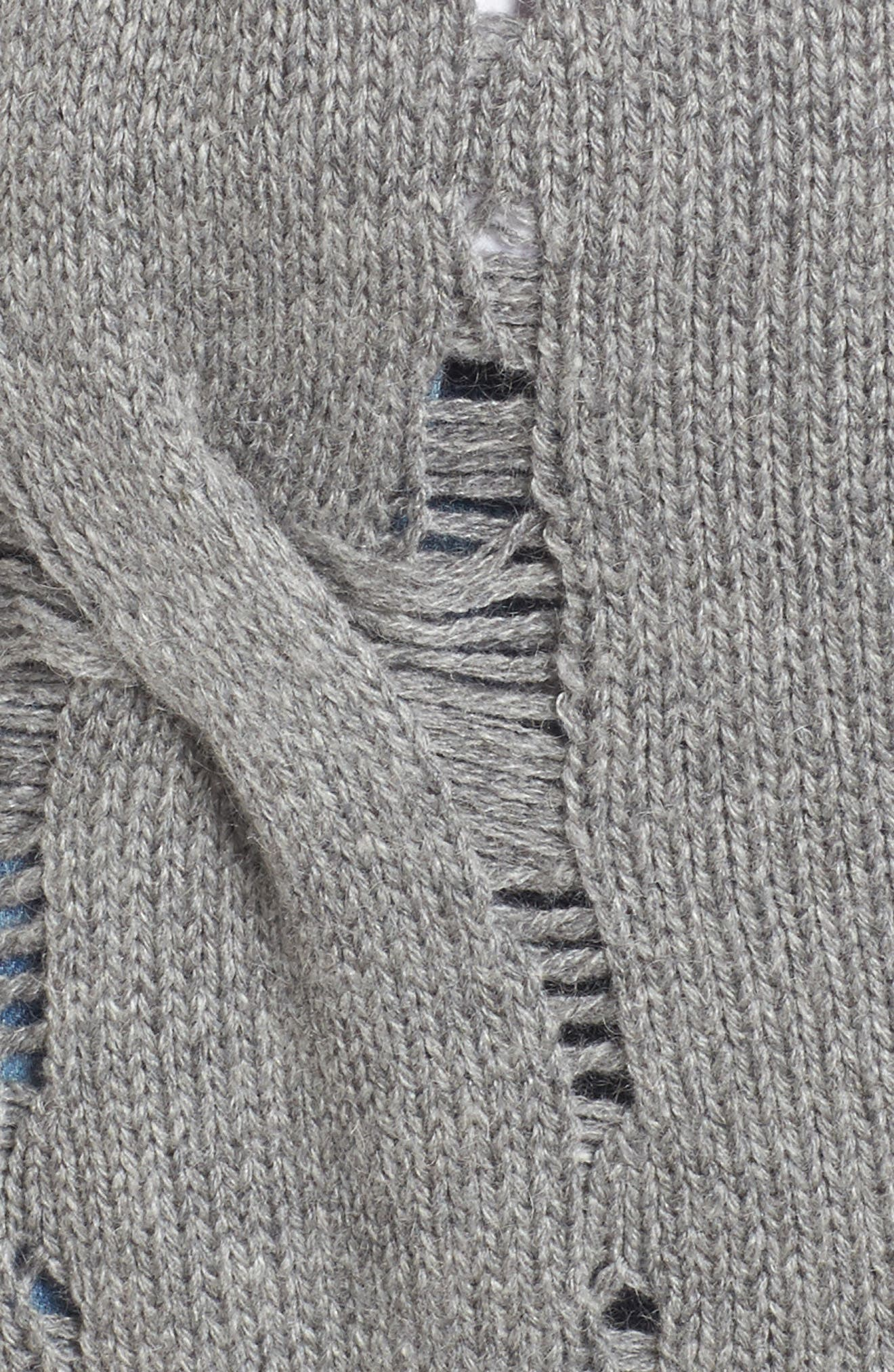 Sandrine Longline Cardigan Sweater,                             Alternate thumbnail 5, color,                             Pebble Grey