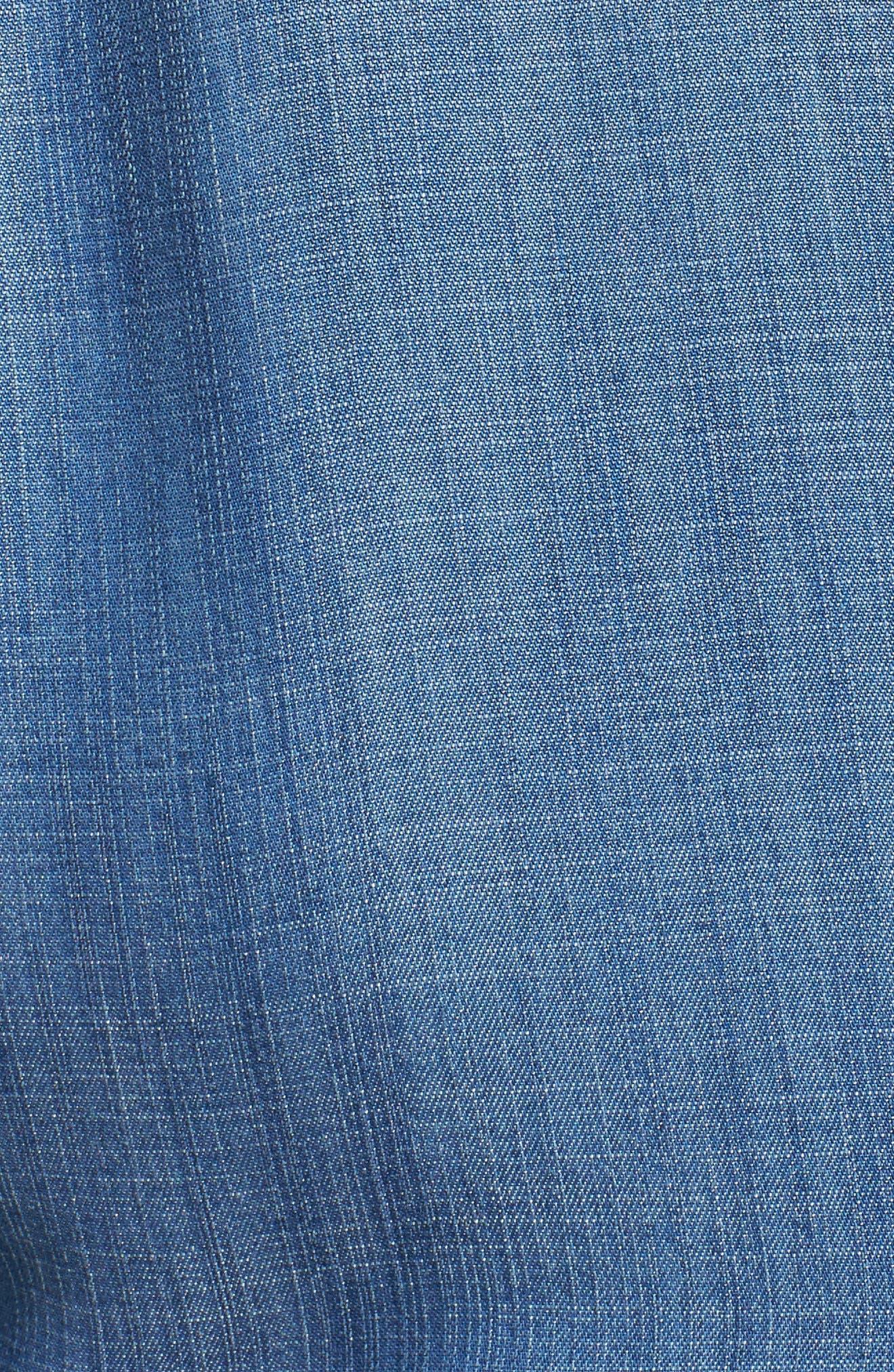 Alternate Image 5  - Caslon® Peplum Denim Shirt (Plus Size)