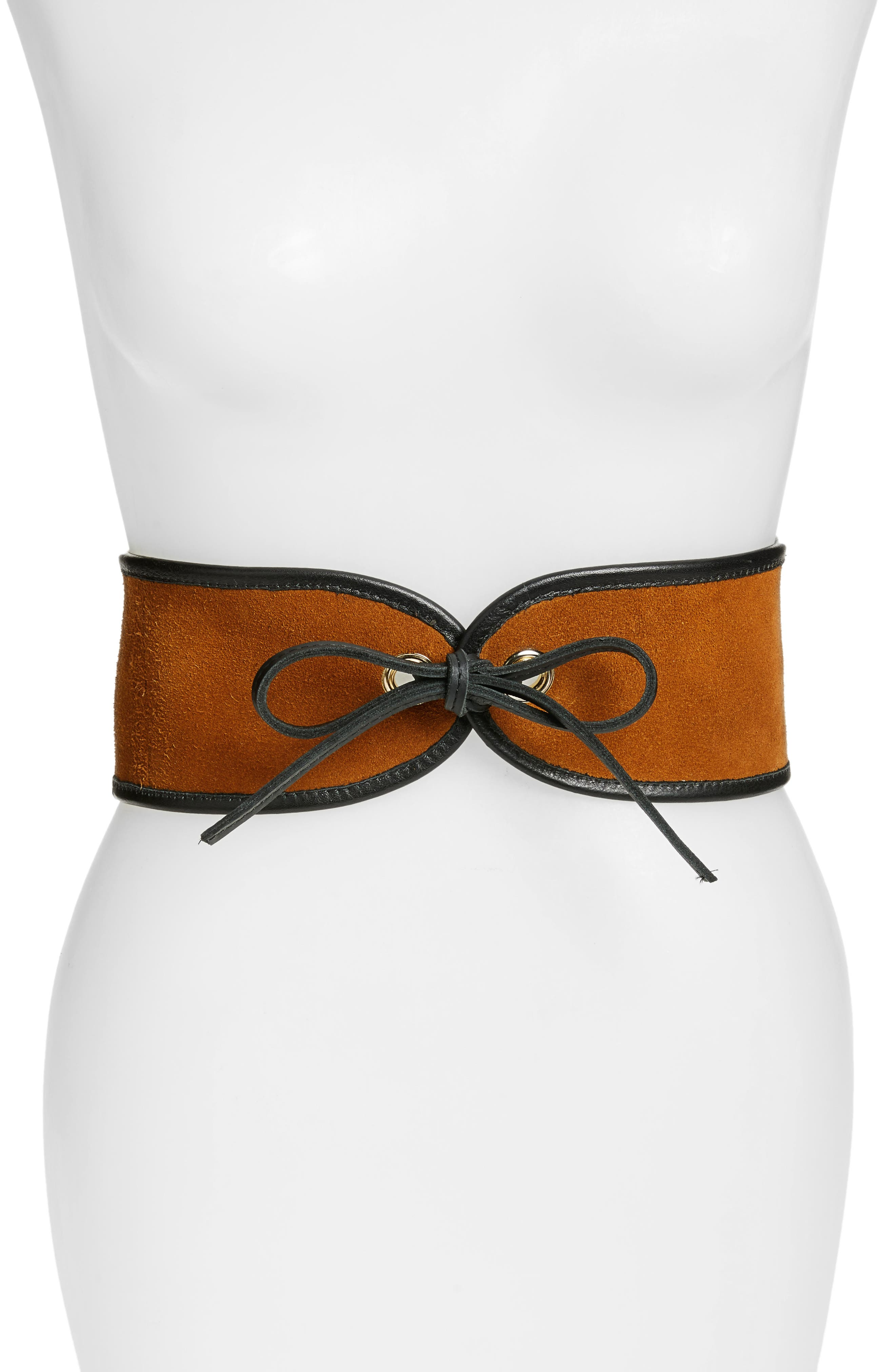 Main Image - Raina Casablanca Leather Corset Belt