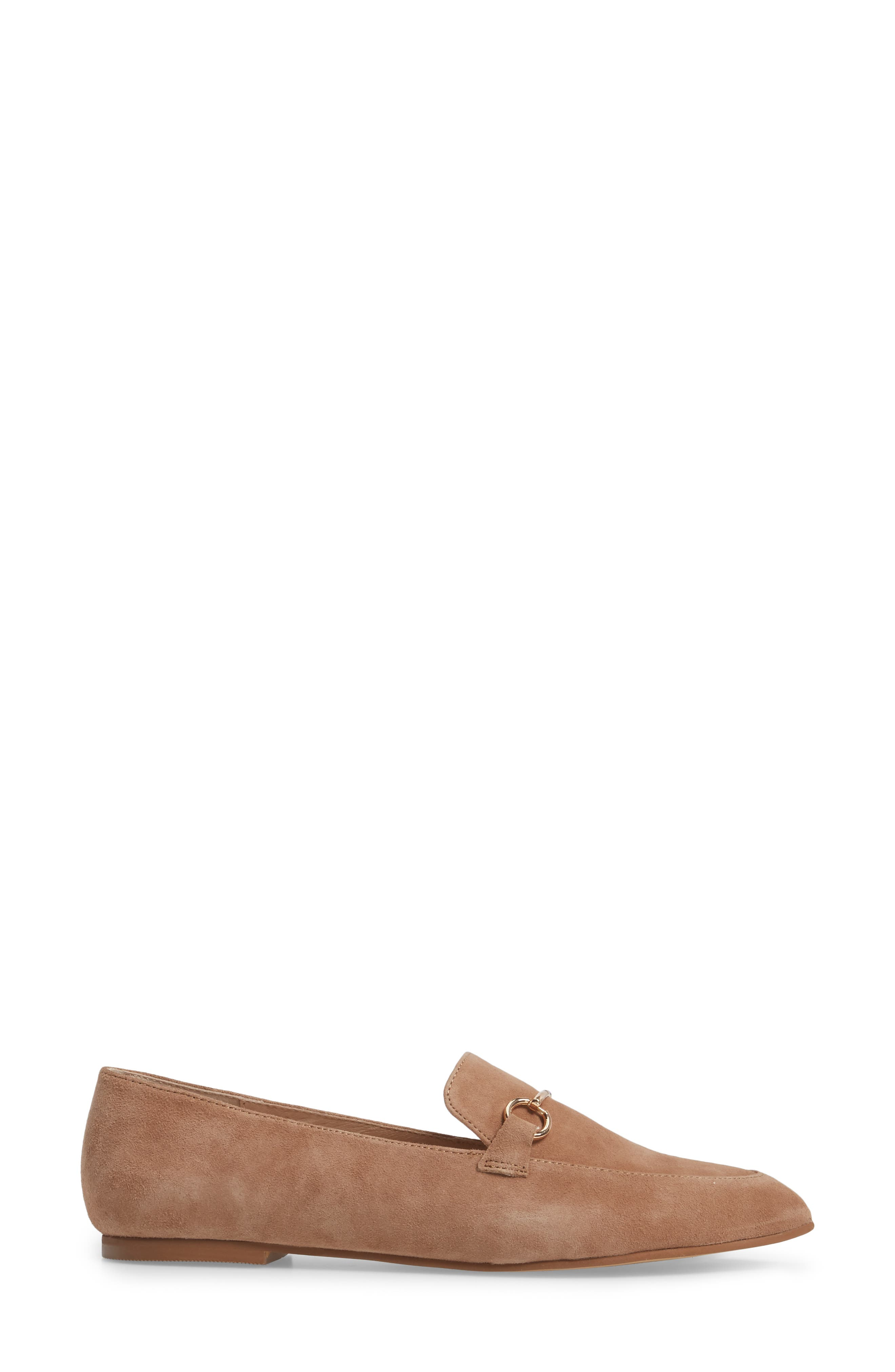 Cambrie Loafer Flat,                             Alternate thumbnail 3, color,                             Clay Suede