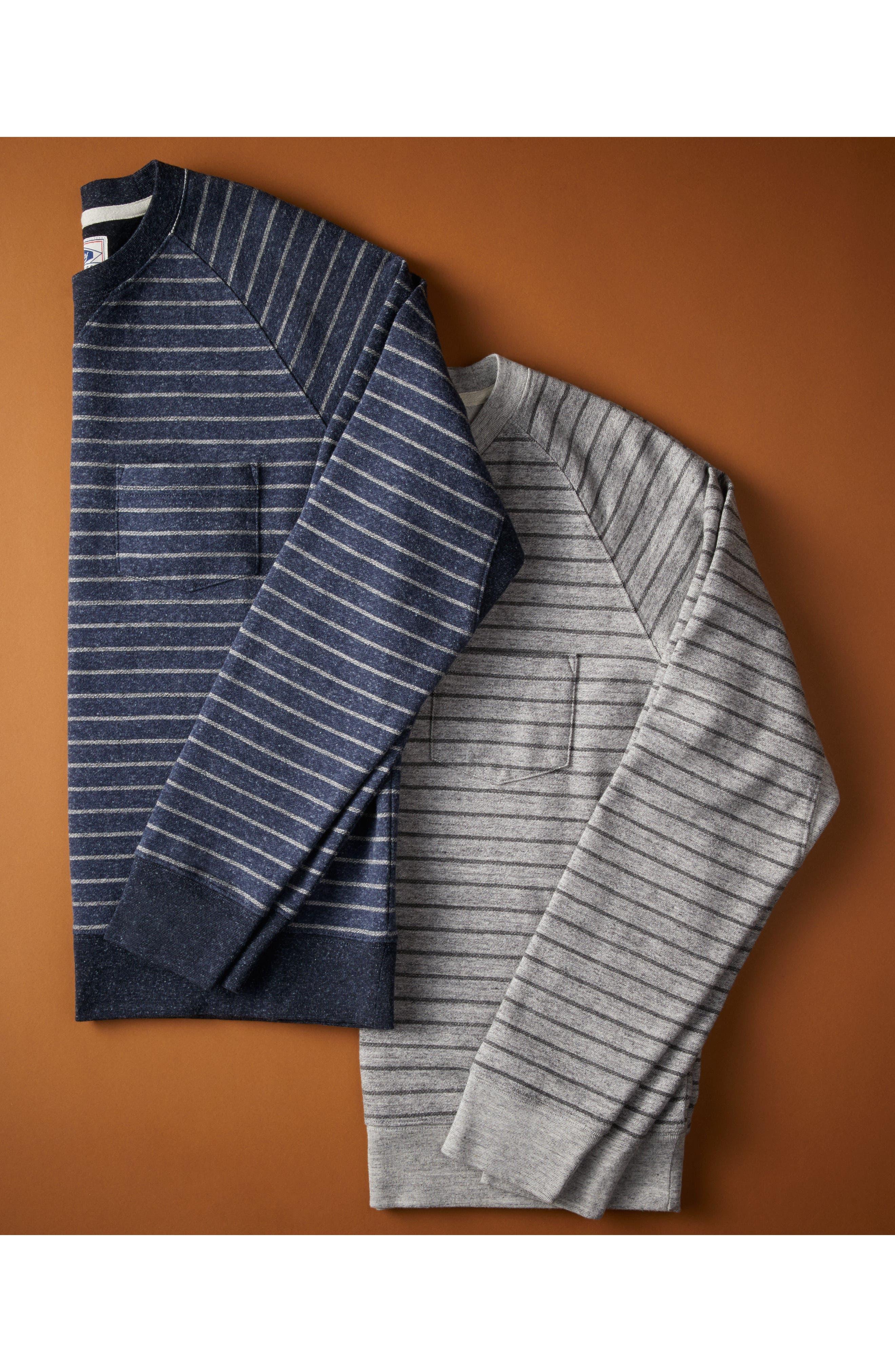 Palmer Modern Fit Athletic Stripe Sweatshirt,                             Alternate thumbnail 3, color,