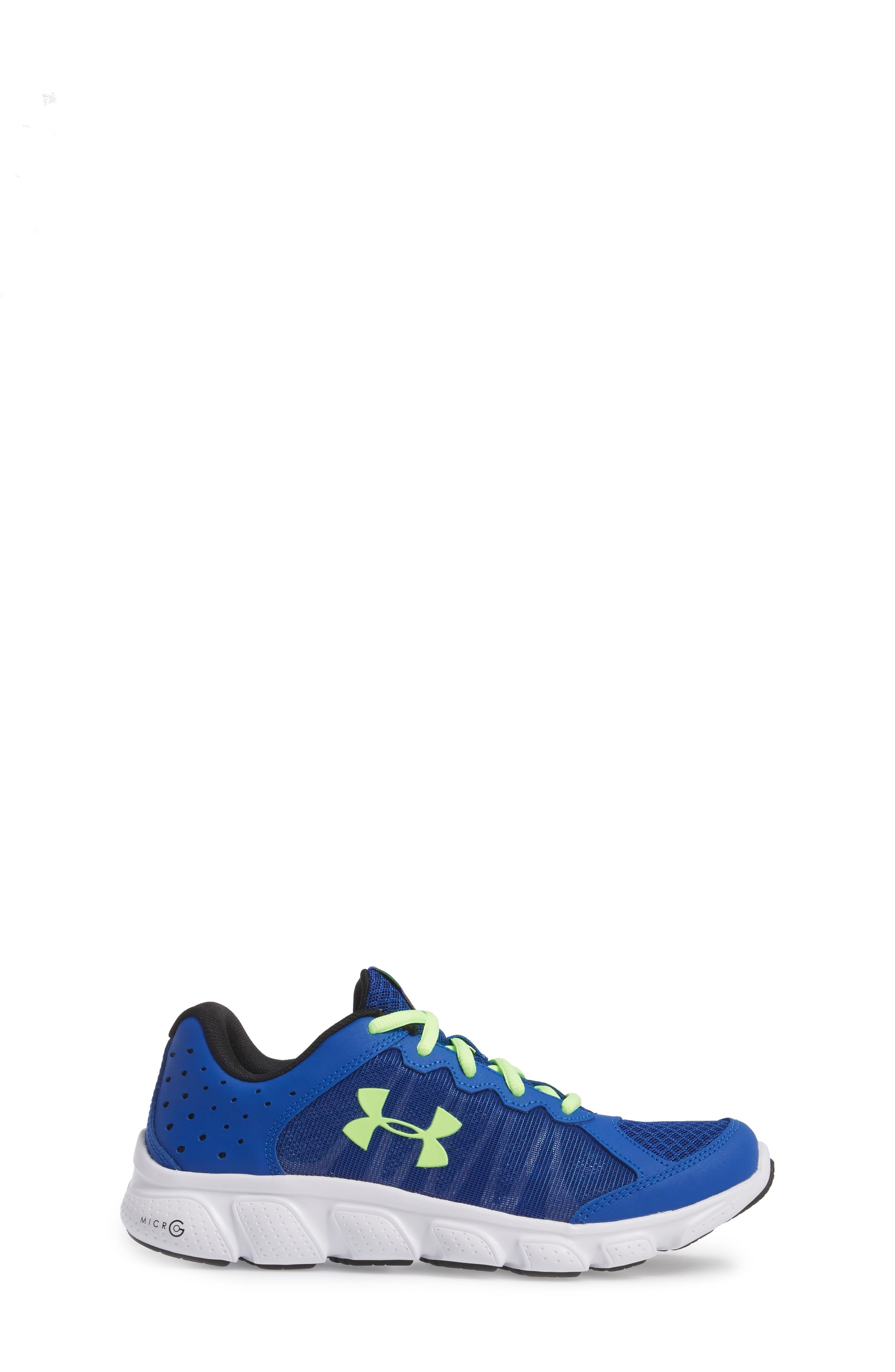 'Micro G<sup>®</sup> Assert VI' Running Shoe,                             Alternate thumbnail 3, color,                             Royal/ White/ Quirky Lime