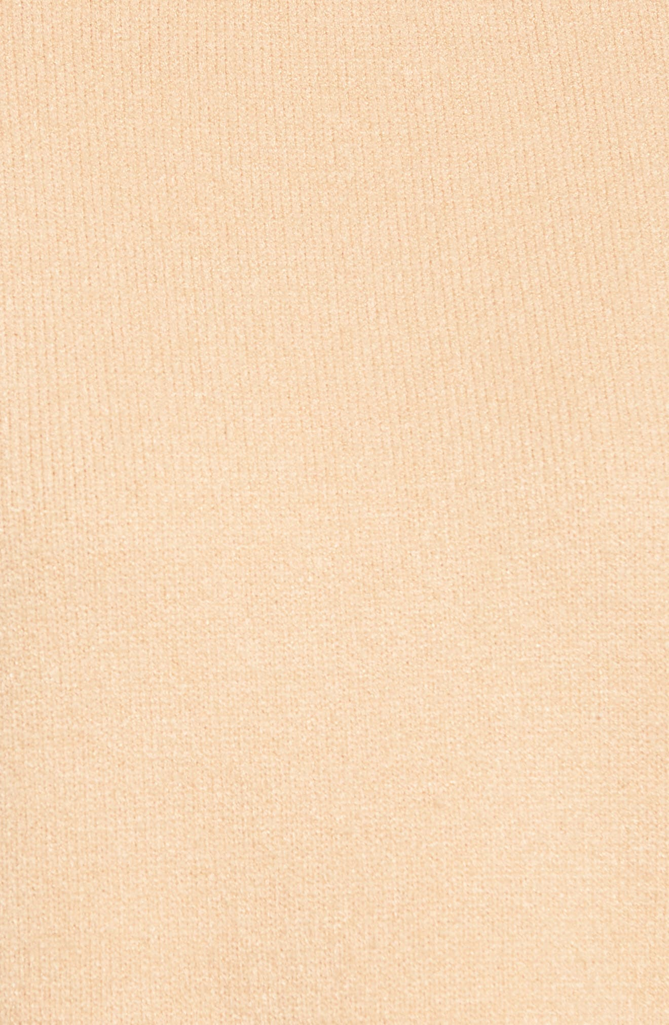 Bergen Fringe Trim Pullover,                             Alternate thumbnail 5, color,                             Nude