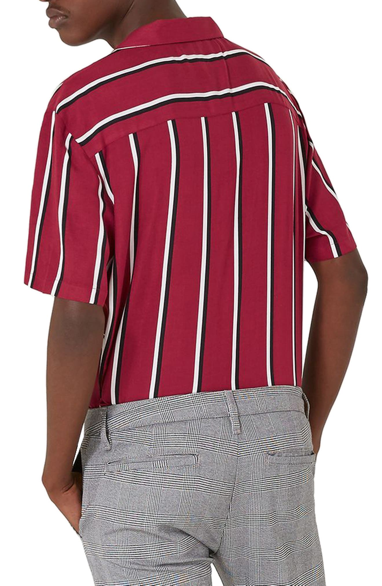 Alternate Image 2  - Topman Stripe Revere Shirt