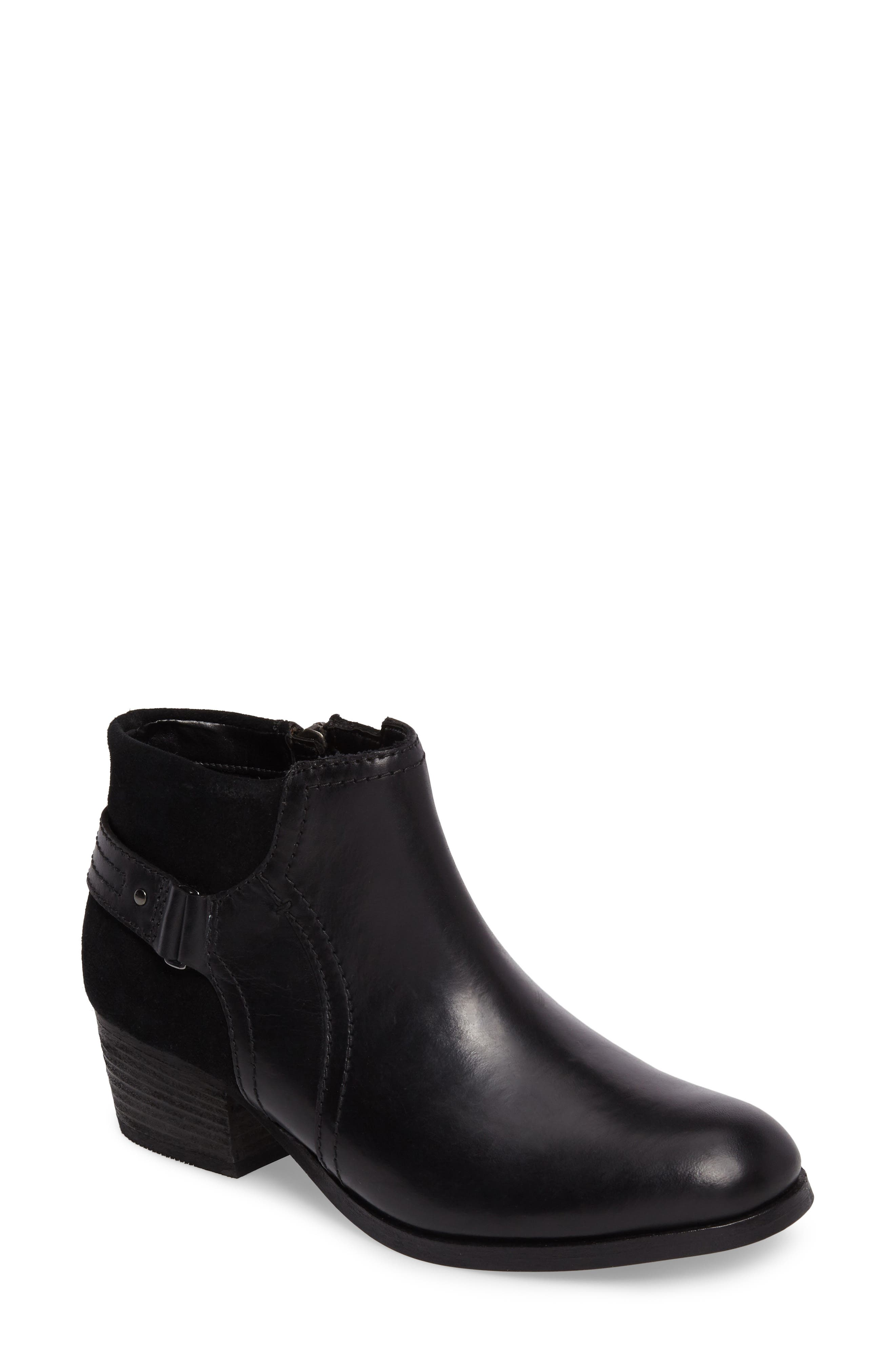 Maypearl Lilac Bootie,                             Main thumbnail 1, color,                             Black Leather