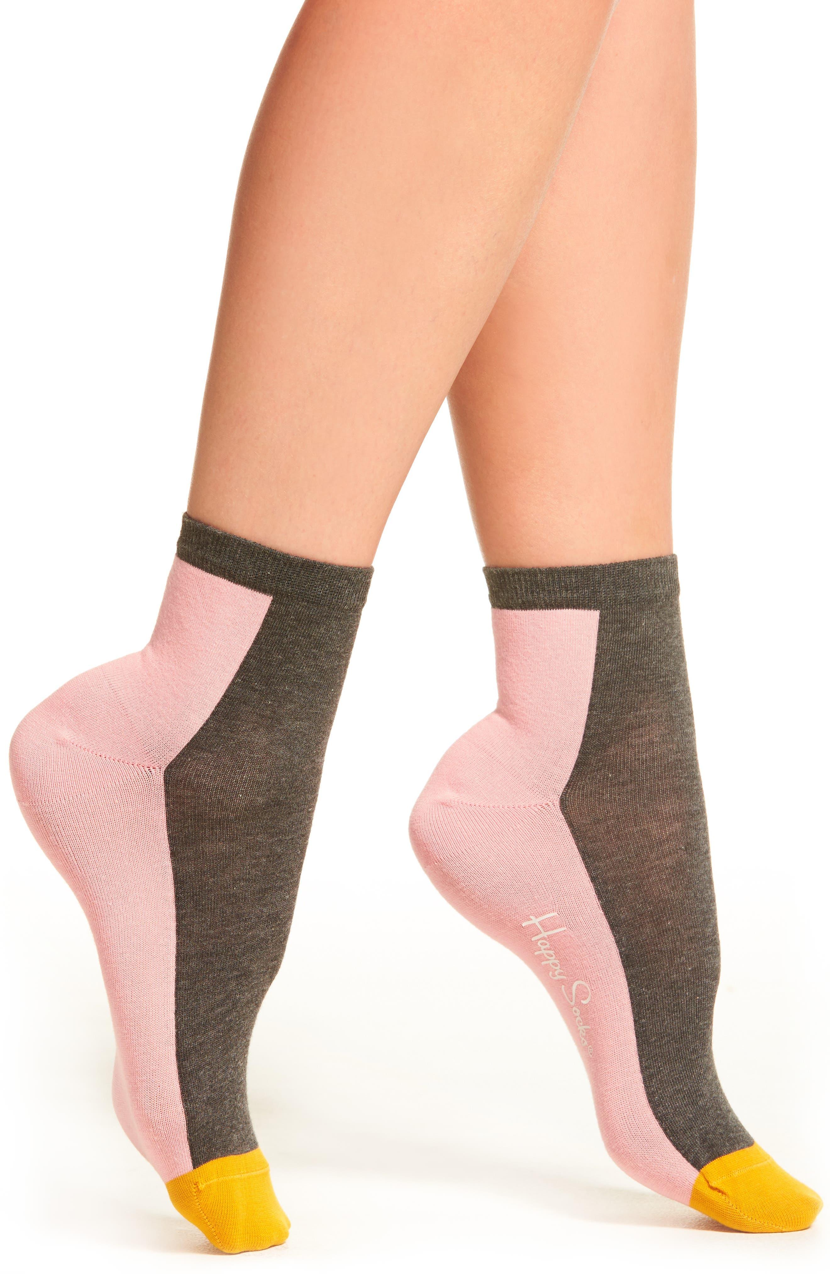 Anklet Socks,                             Main thumbnail 1, color,                             Grey