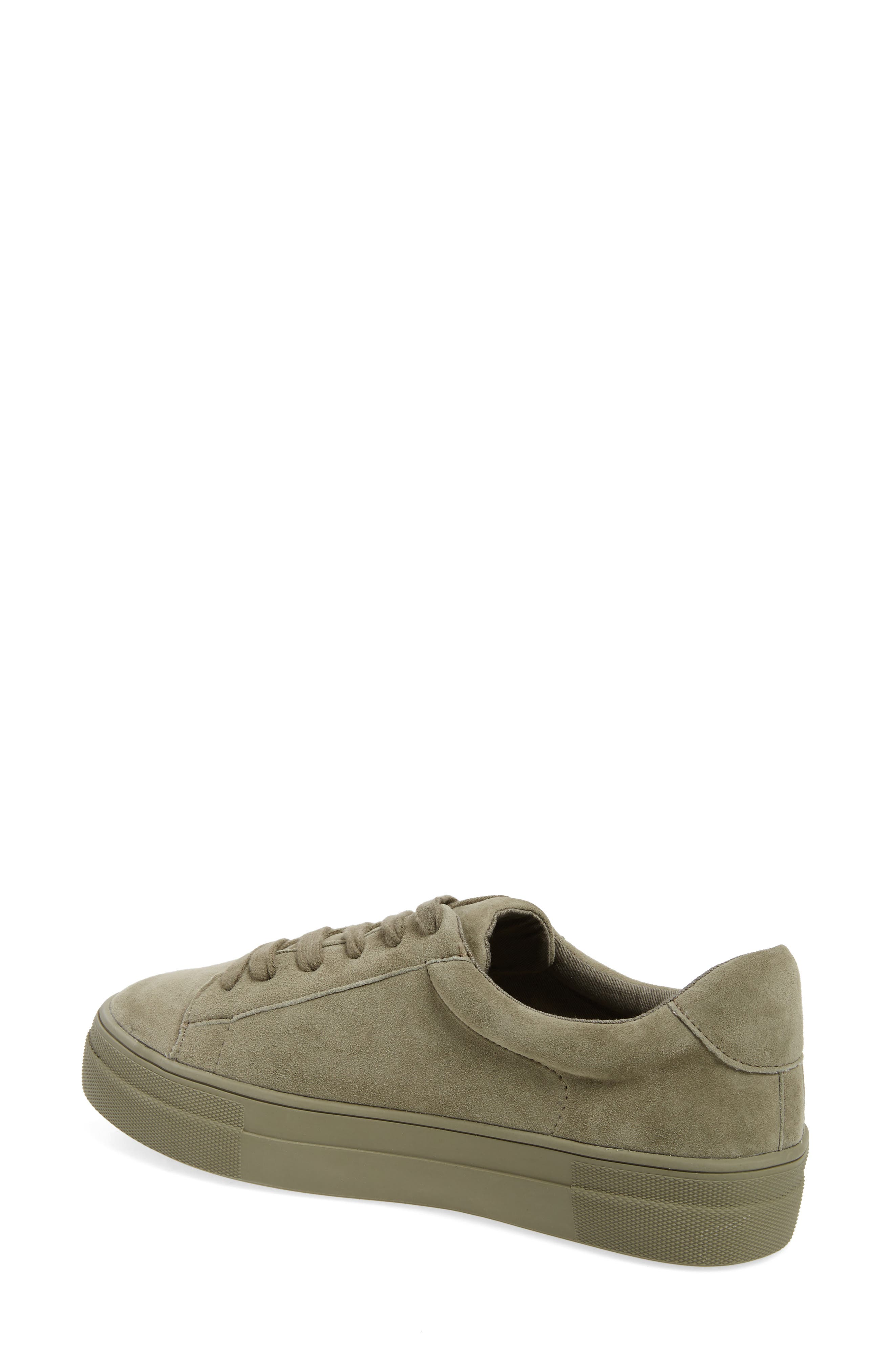 Gisela Low Top Sneaker,                             Alternate thumbnail 2, color,                             Olive Suede