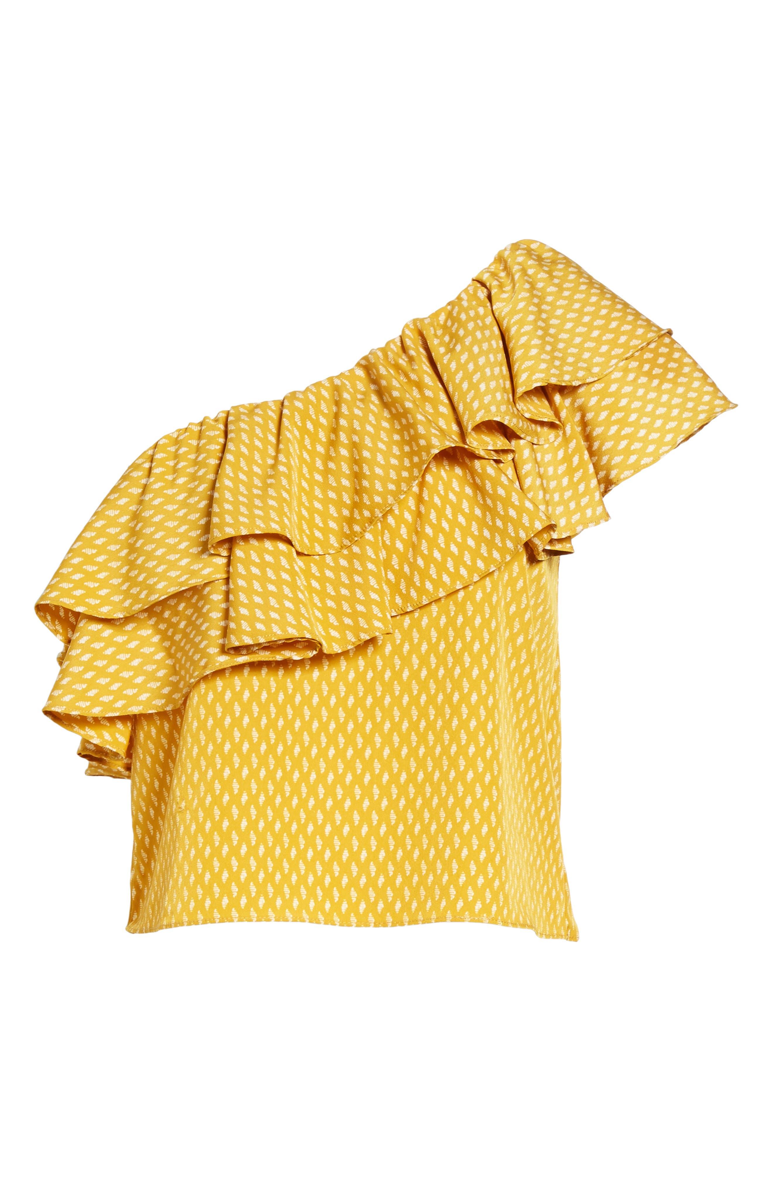 Alternate Image 6  - MISA Los Angeles Klea Ruffle One-Shoulder Top