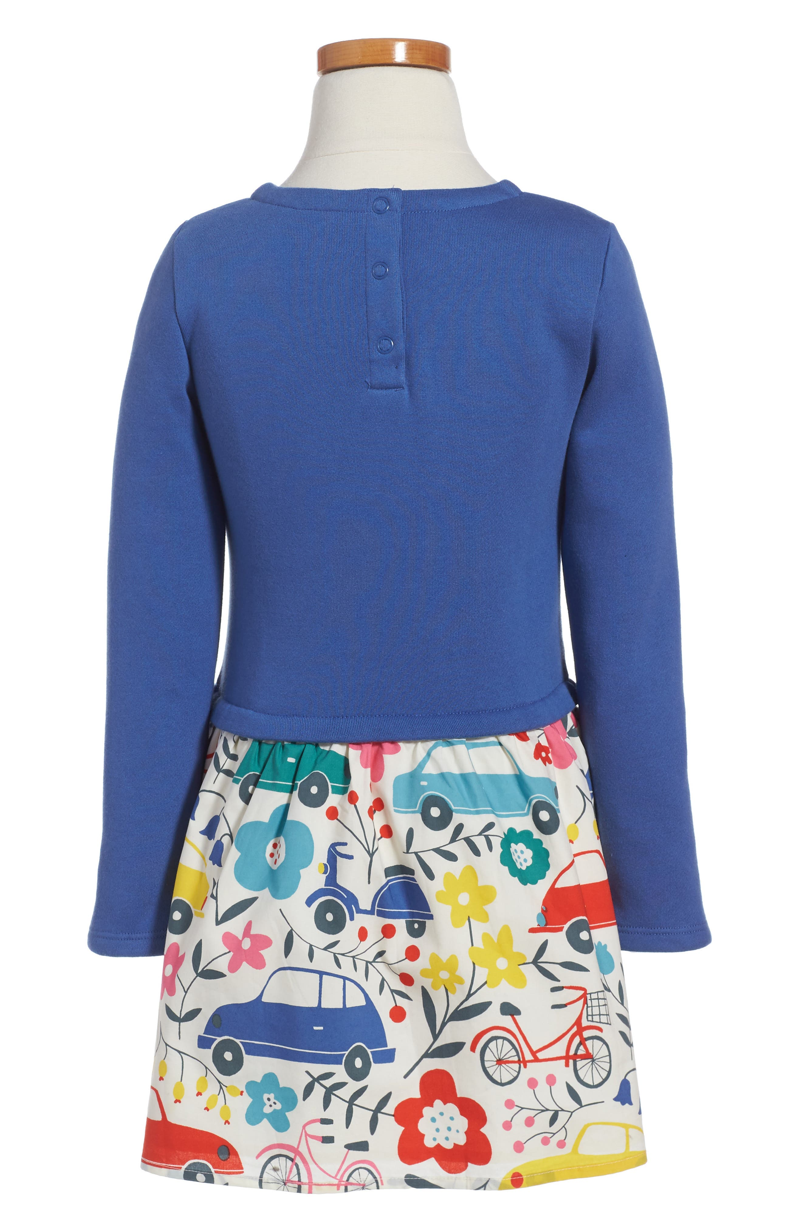 Sequin Appliqué Dress,                             Alternate thumbnail 2, color,                             Bluebell