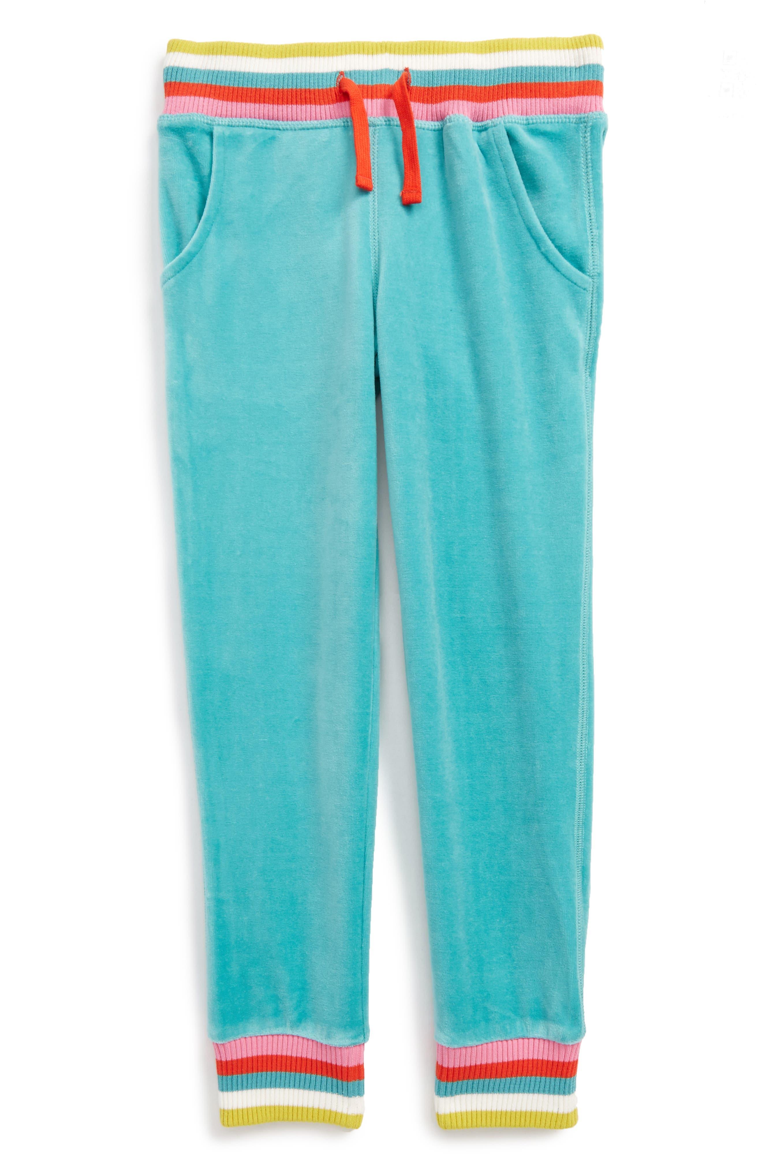 Velour Sweatpants,                         Main,                         color, Green Duck