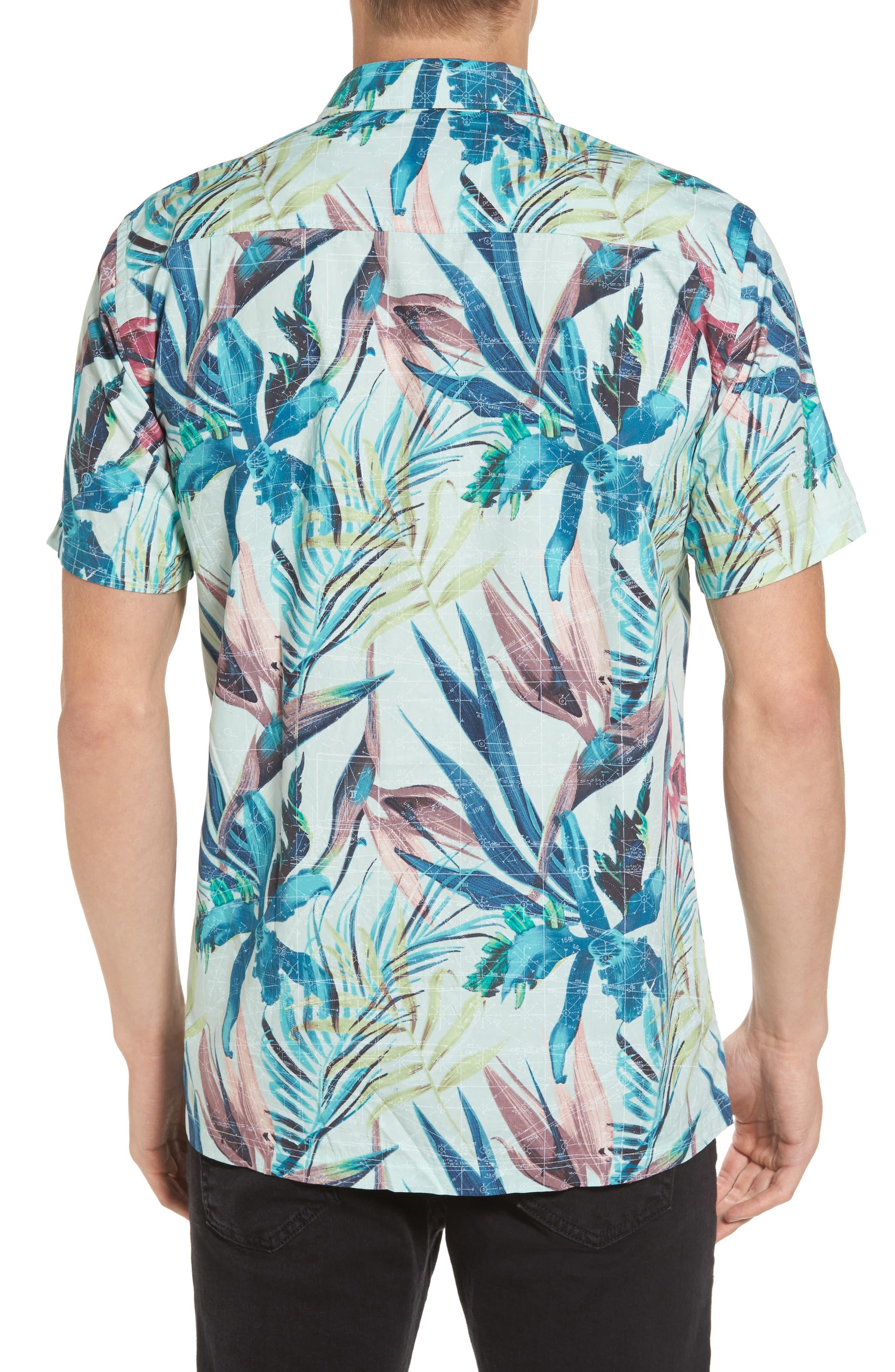 Maps Woven Shirt,                             Alternate thumbnail 2, color,                             Multi Black