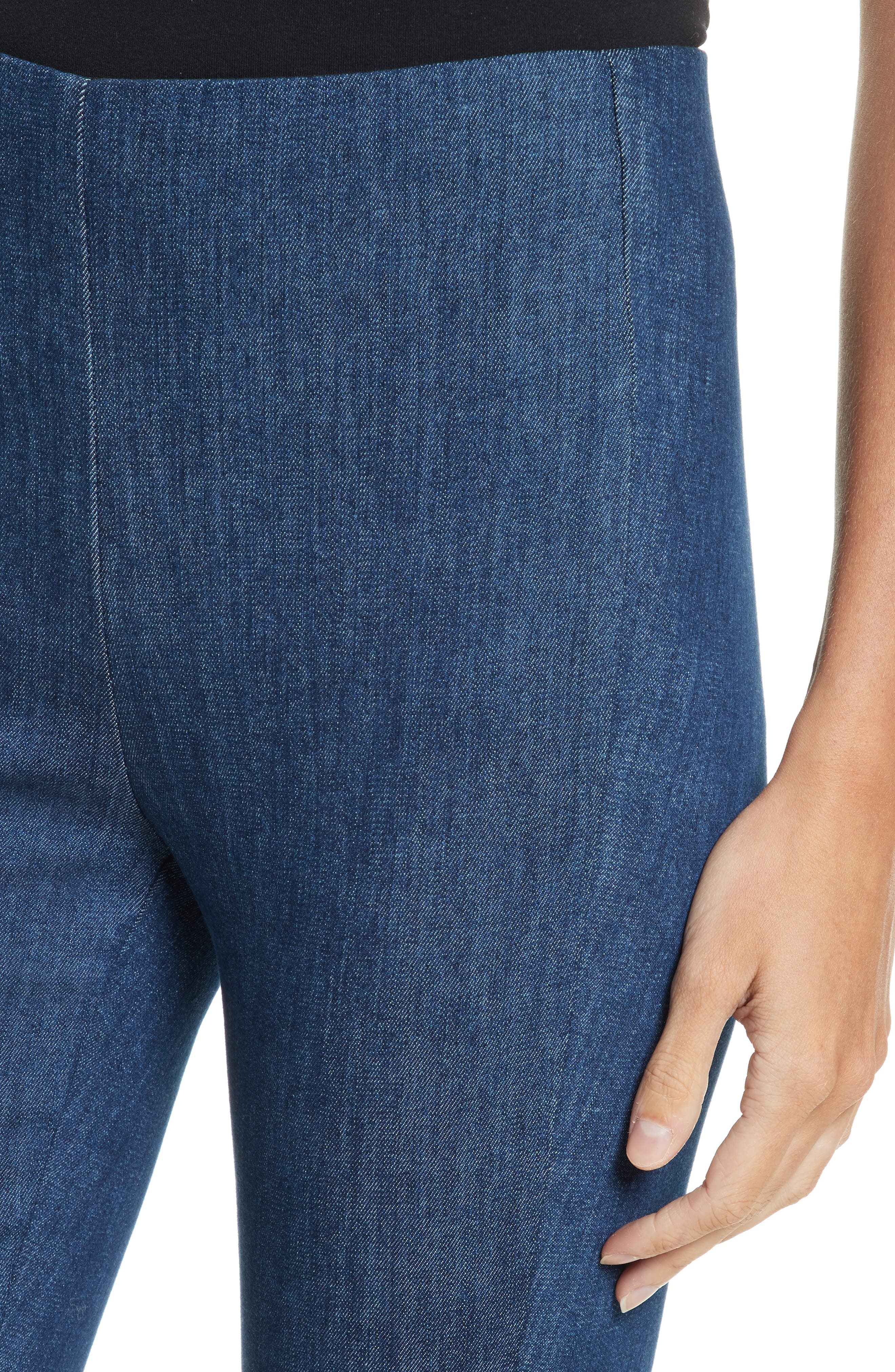 Simone Slim Ankle Pants,                             Alternate thumbnail 4, color,                             Mid Blue