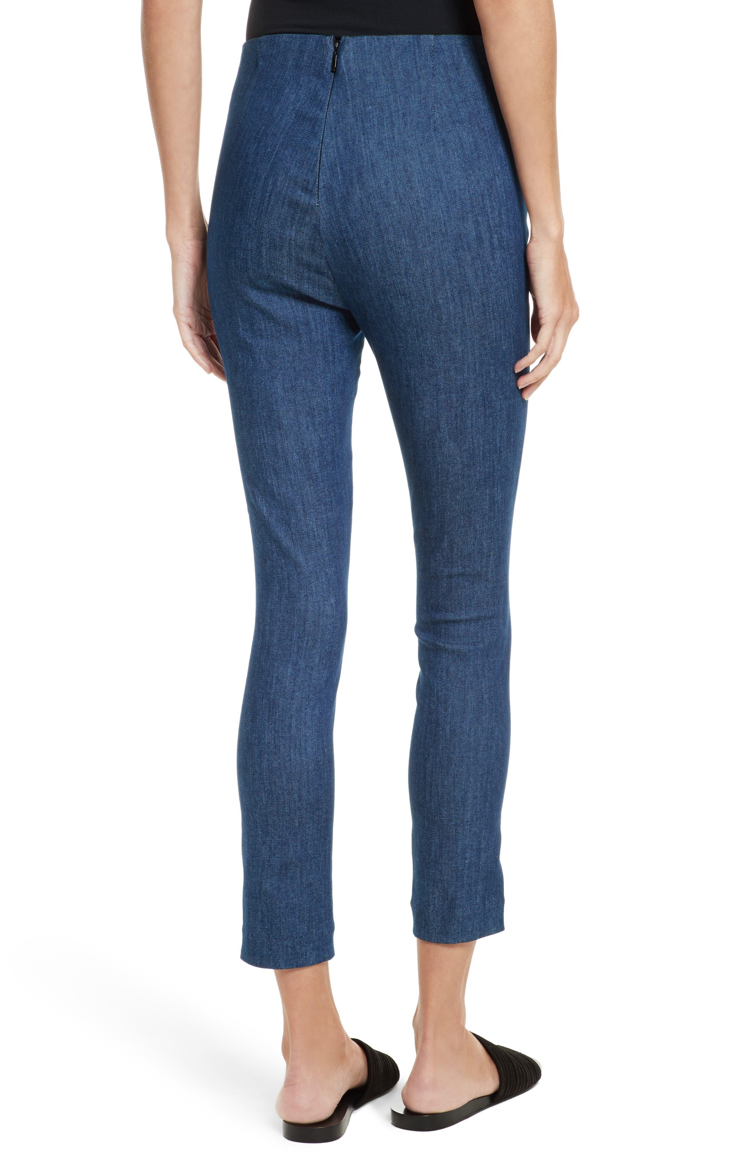 Simone Slim Ankle Pants,                             Alternate thumbnail 2, color,                             Mid Blue