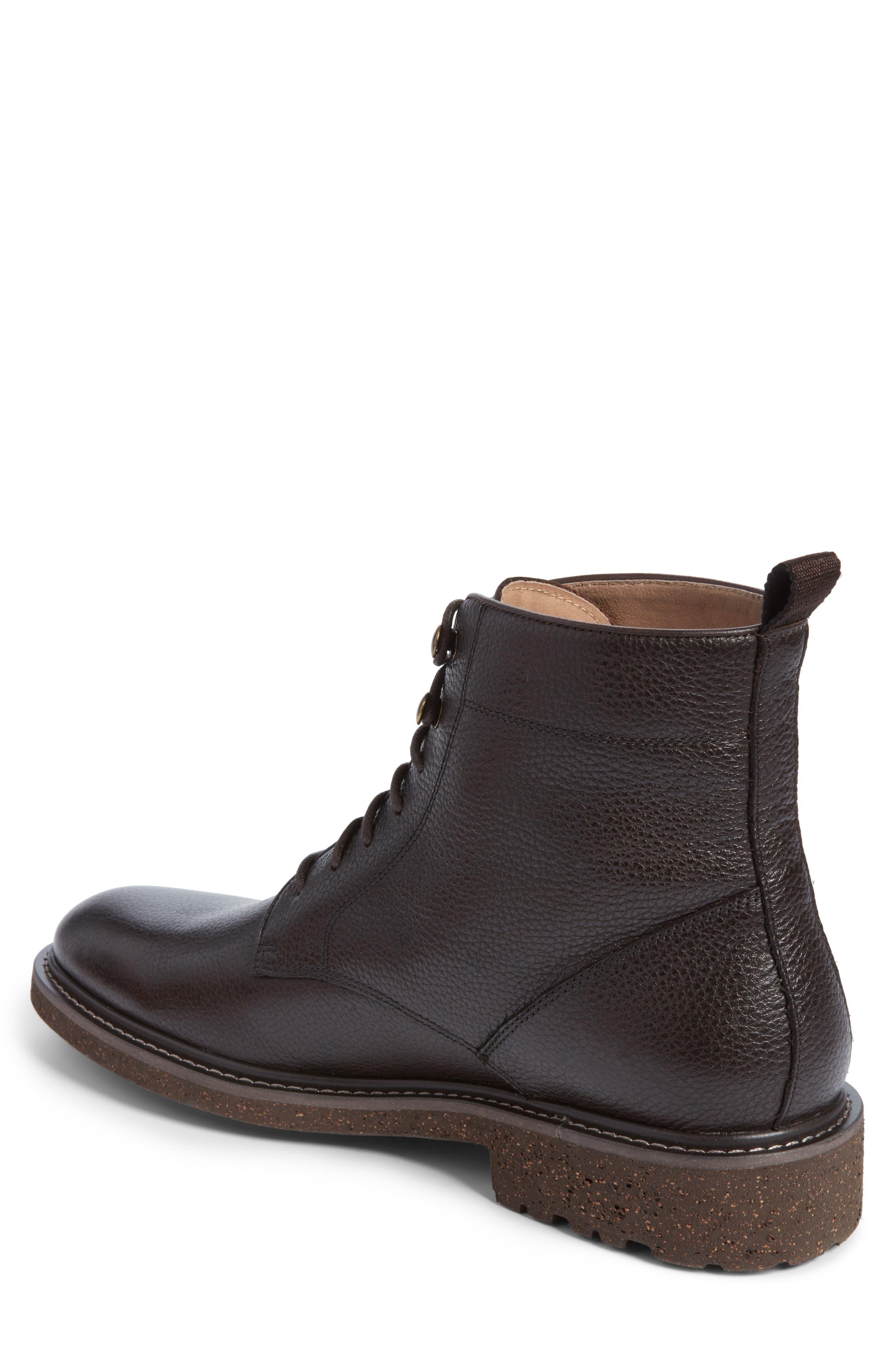 Trenton Plain Toe Boot,                             Alternate thumbnail 2, color,                             Chocolate Leather