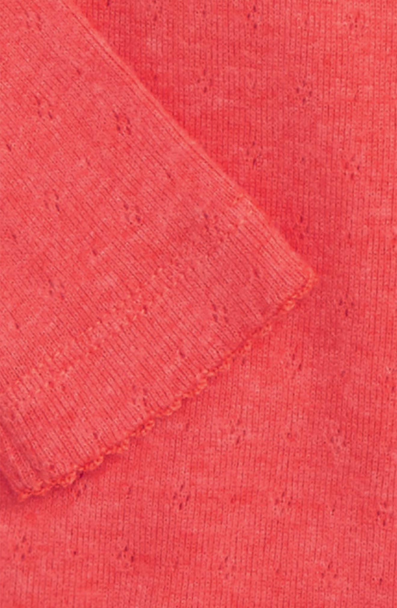 Supersoft Pointelle Bodysuit,                             Alternate thumbnail 2, color,                             Red Jam