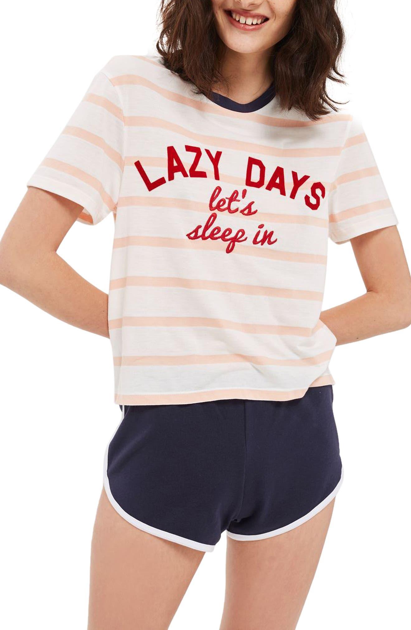Lazy Days Pajamas,                             Main thumbnail 1, color,                             White Multi