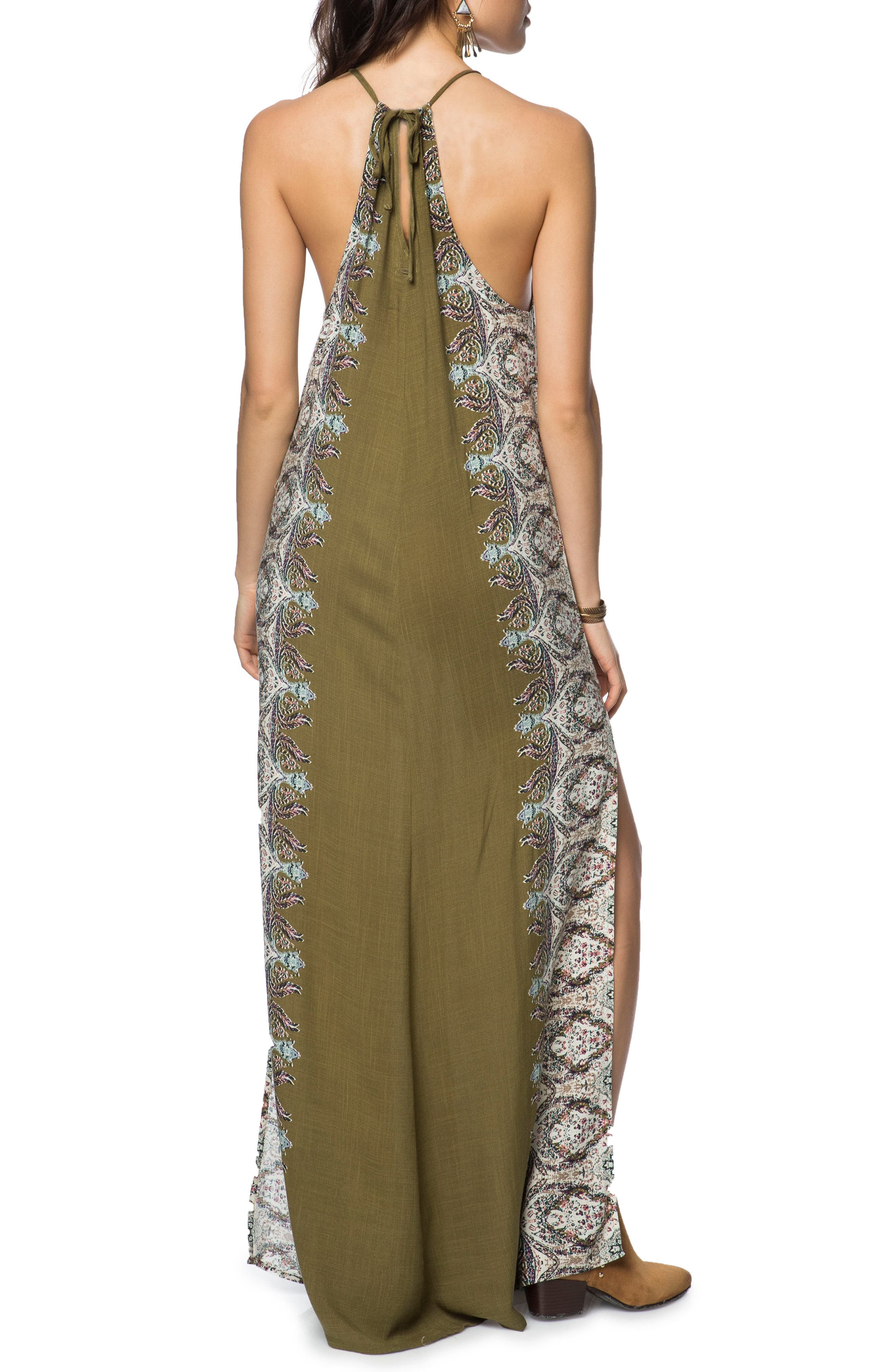 Brinkley Maxi Dress,                             Alternate thumbnail 2, color,                             Military