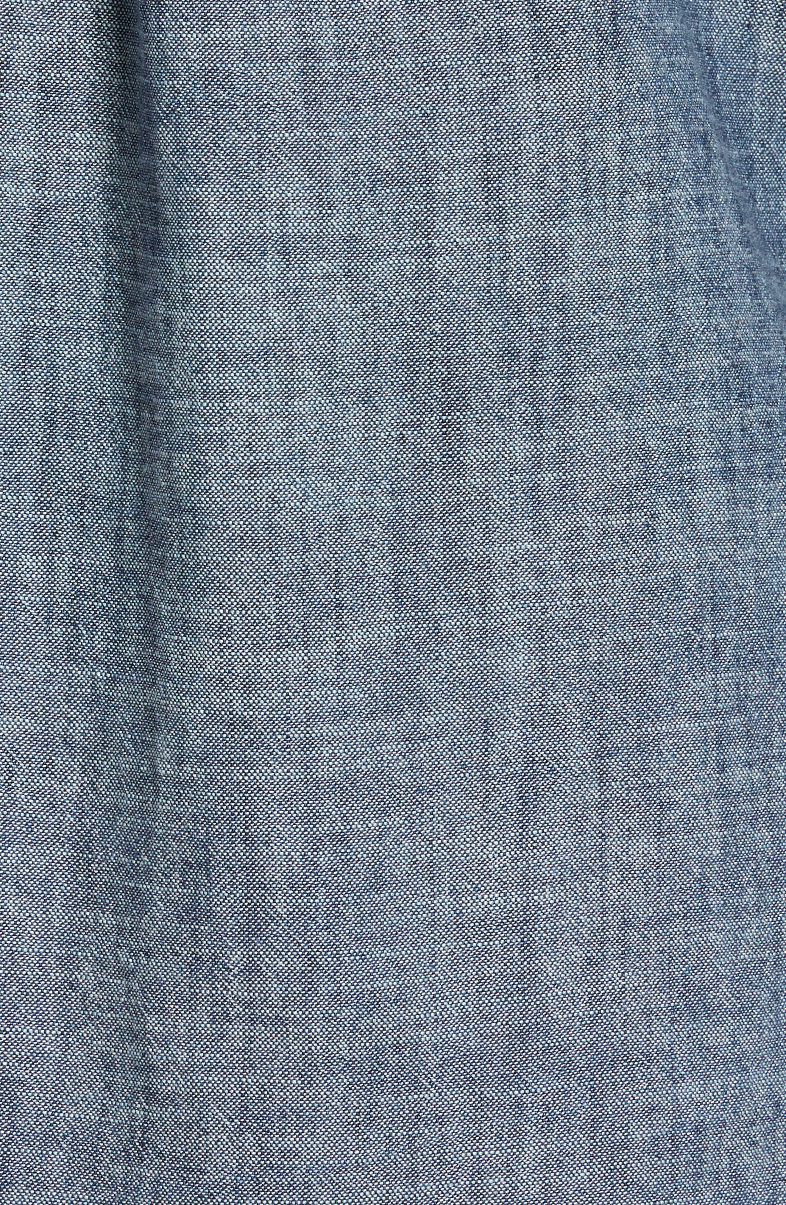 Regular Fit Chambray Sport Shirt,                             Alternate thumbnail 5, color,                             Chambray