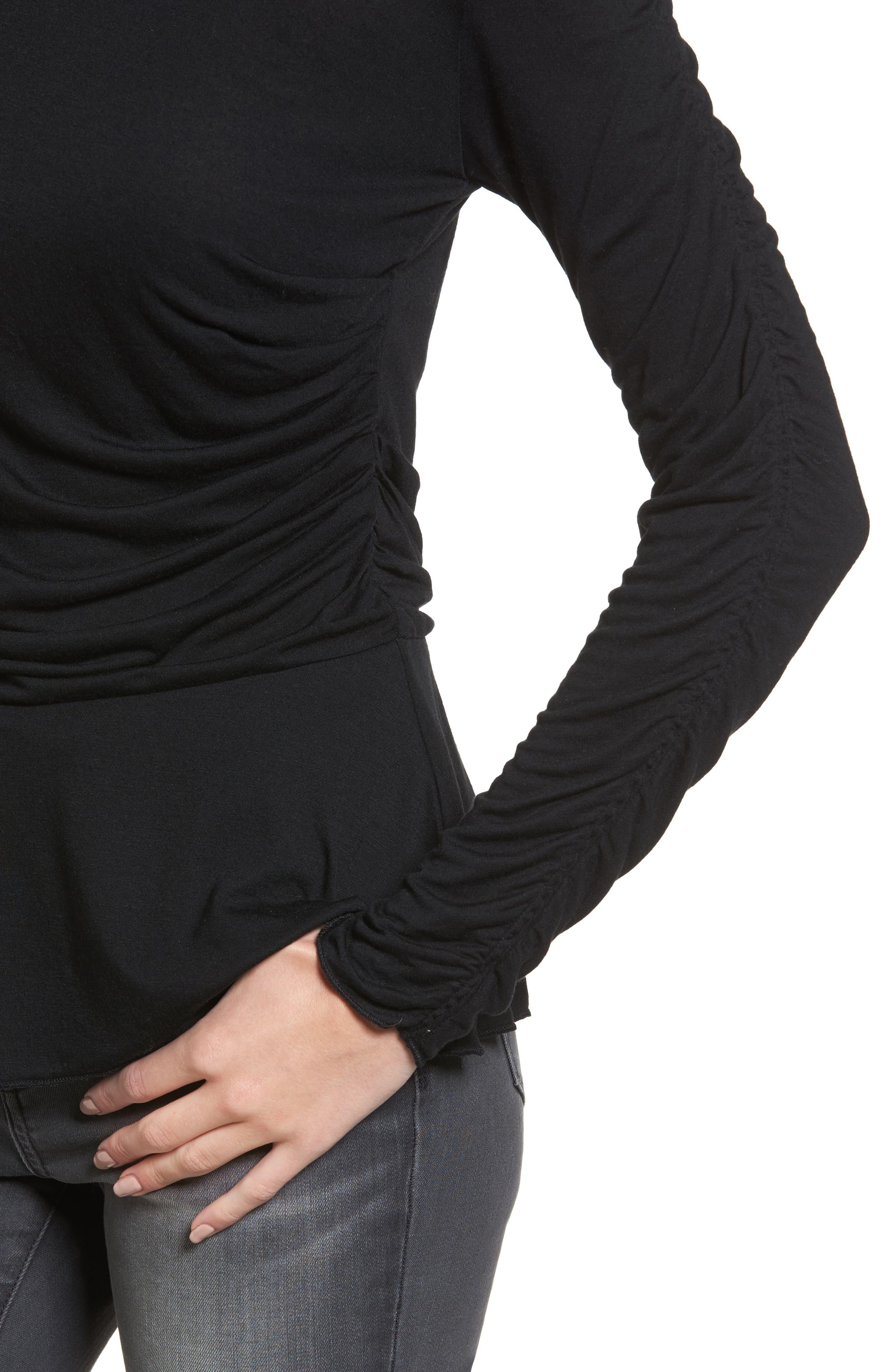 Alternate Image 4  - Hinge Draped Jersey Top