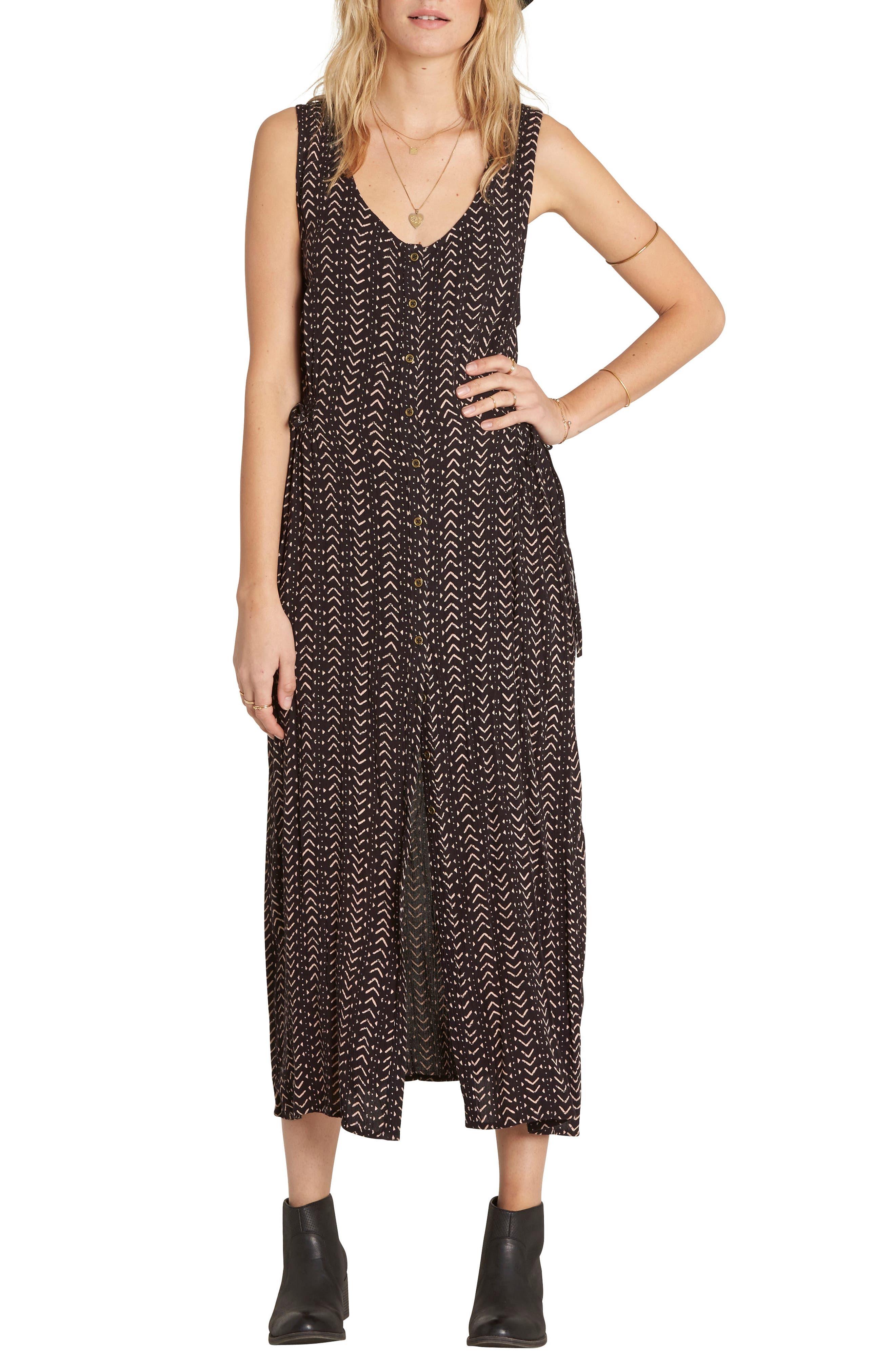 Alternate Image 1 Selected - Billabong Desert Dreams Print Midi Dress