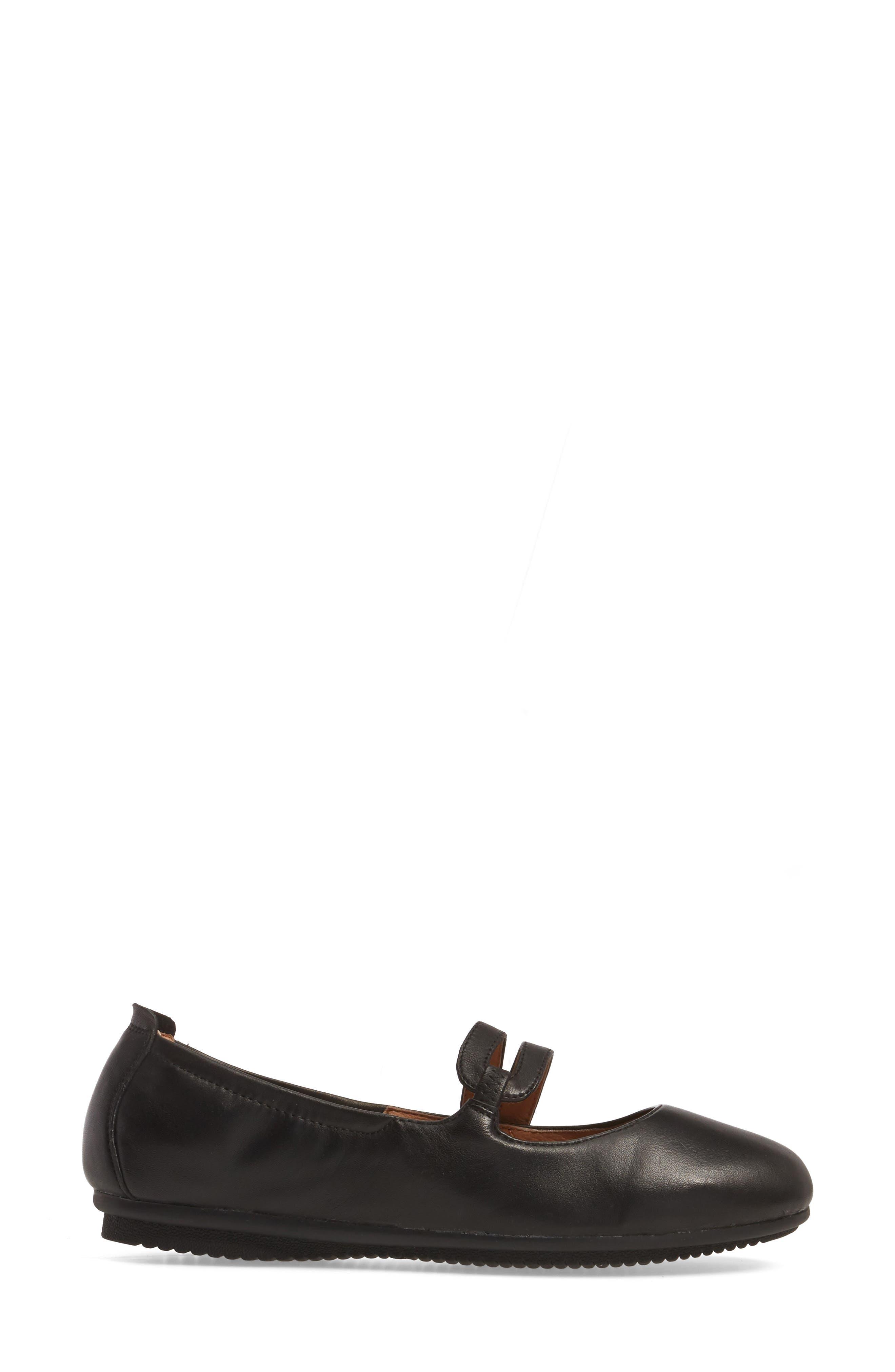 Pippa 63 Flat,                             Alternate thumbnail 3, color,                             Black Leather