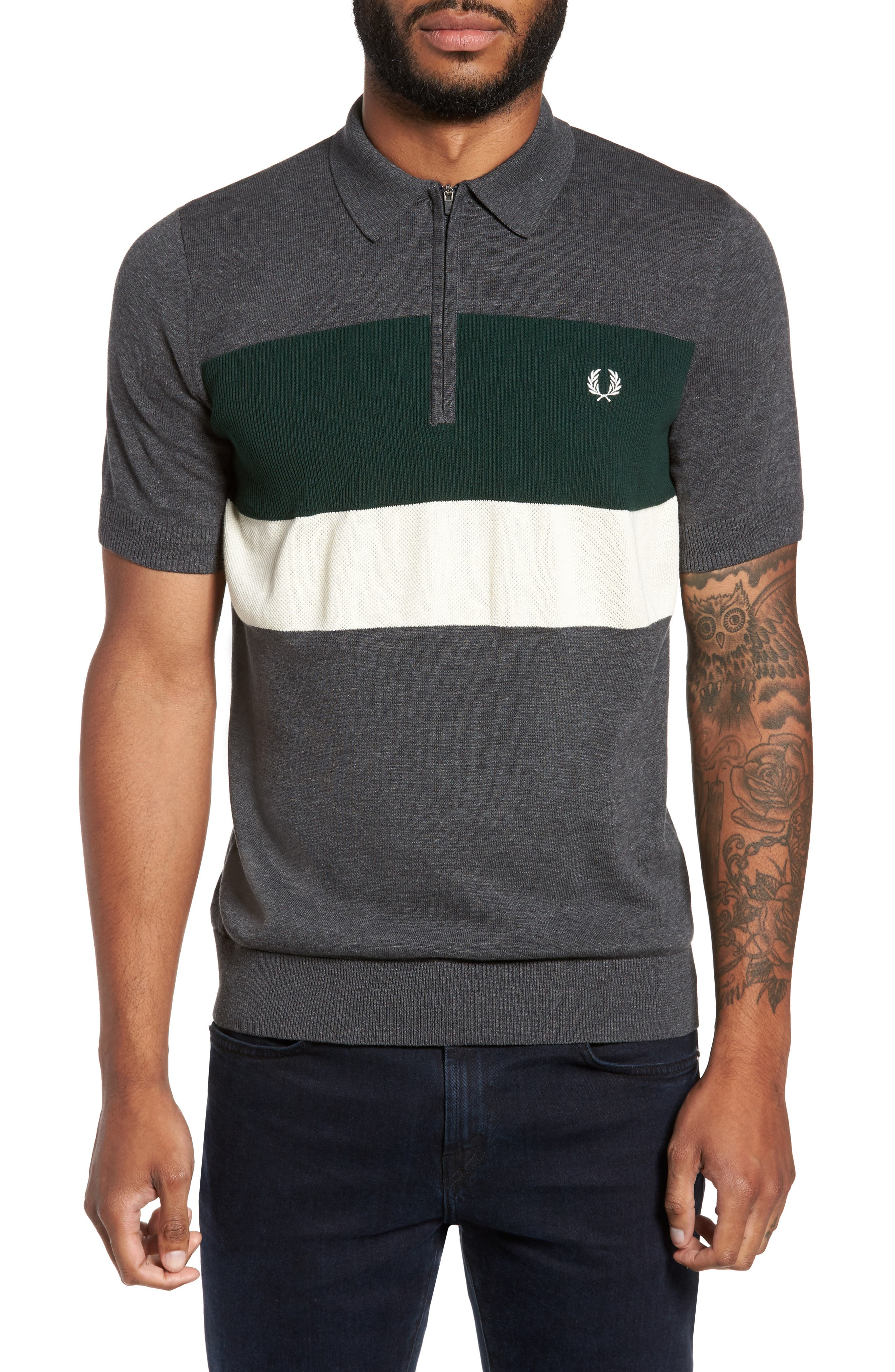 Alternate Image 1 Selected - Fred Perry Colorblock Polo