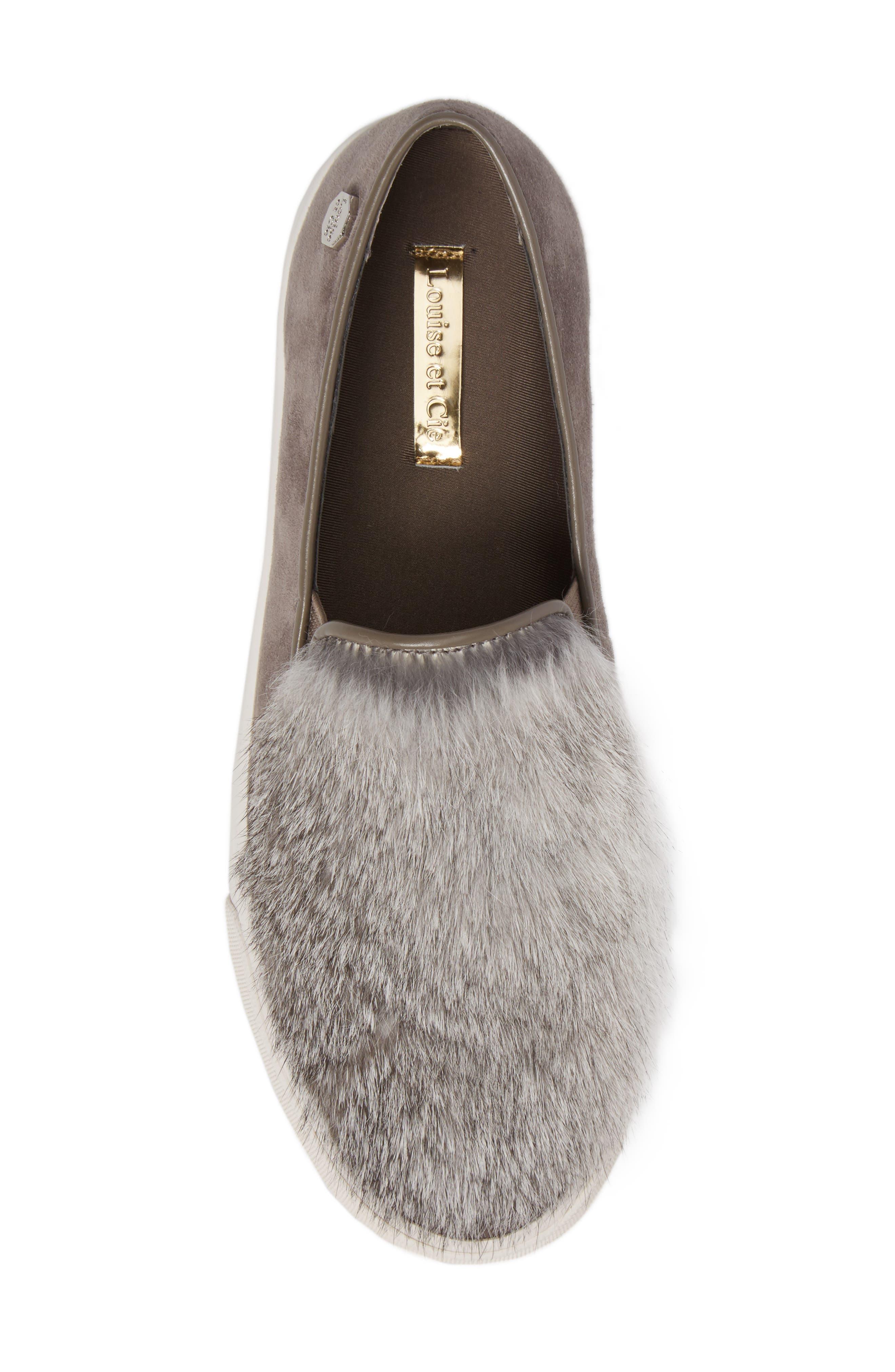 Alternate Image 5  - Louise et Cie Bershner Genuine Rabbit Fur Slip-On Sneaker (Women)