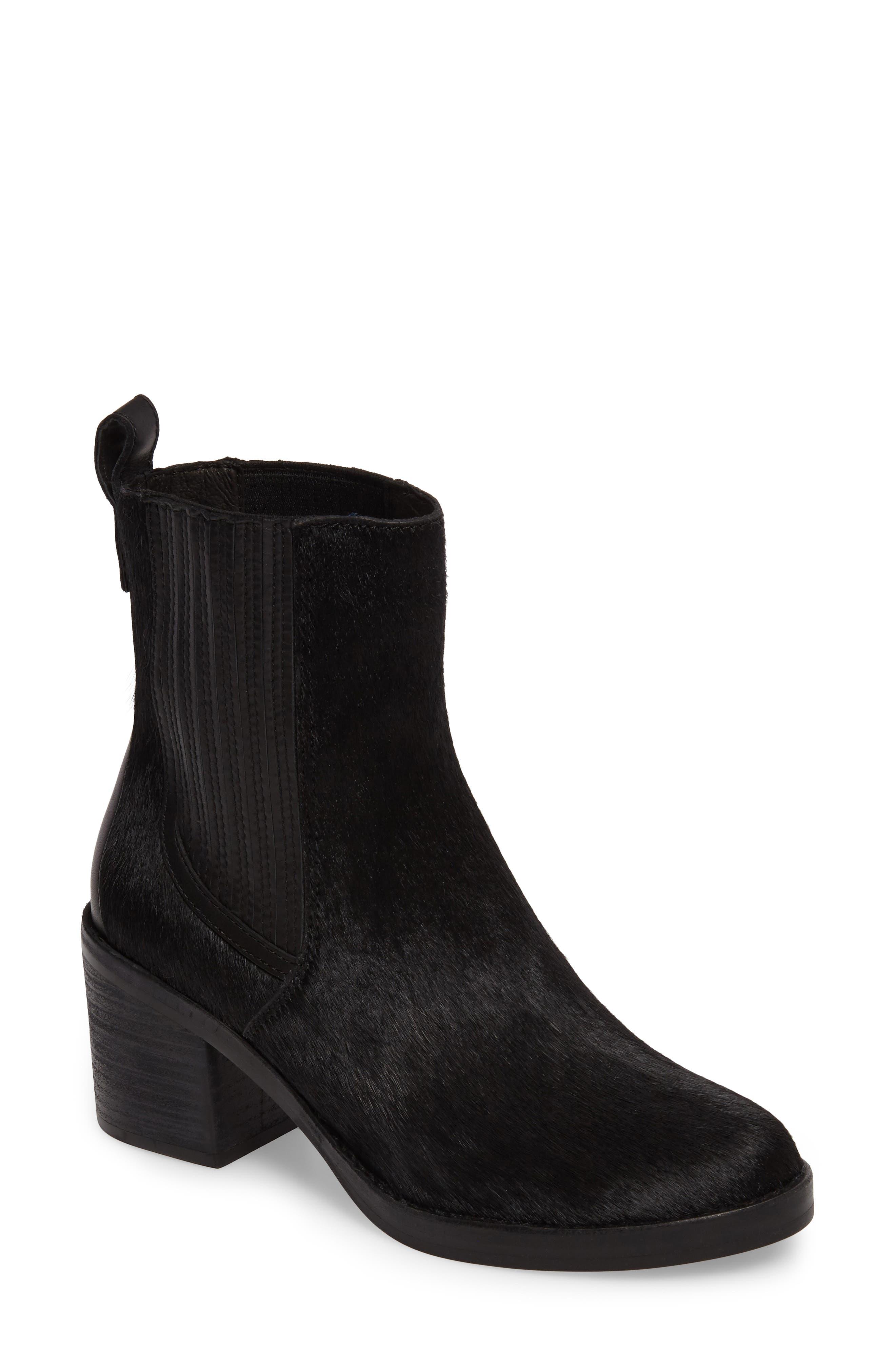 Camden Genuine Calf Hair Chelsea Boot,                             Main thumbnail 1, color,                             Black Calf Hair Leather