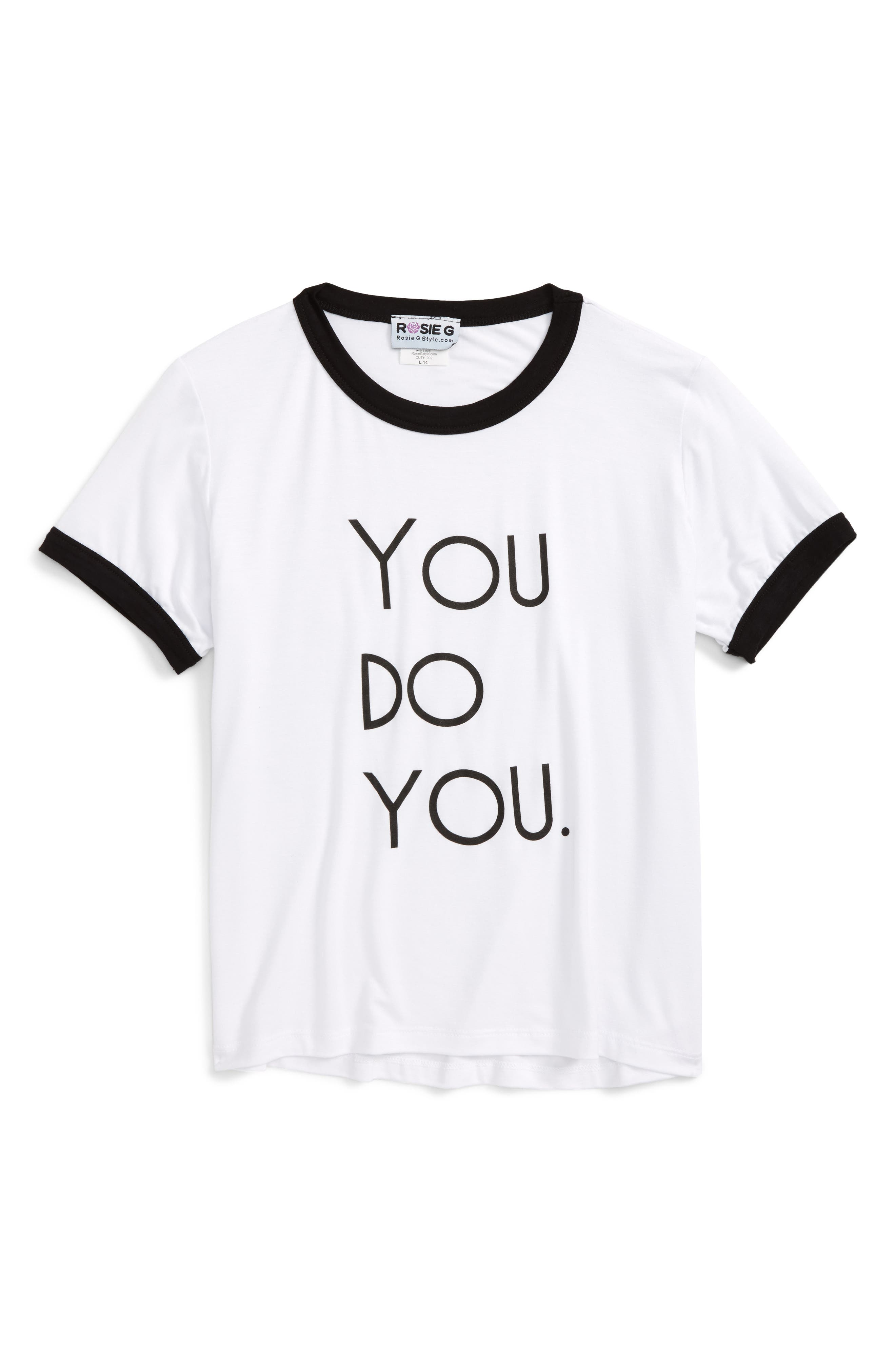 Rosie G You Do You Ringer Tee (Big Girls)